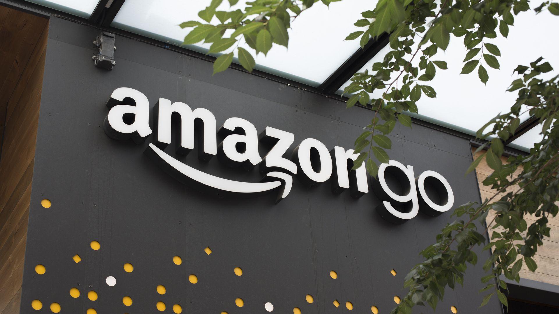 """Exterior of """"AmazonGo"""" store."""