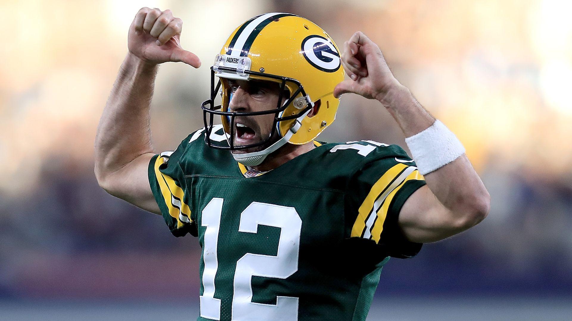 Greenbay Packers quarterback Aaron Rodgers