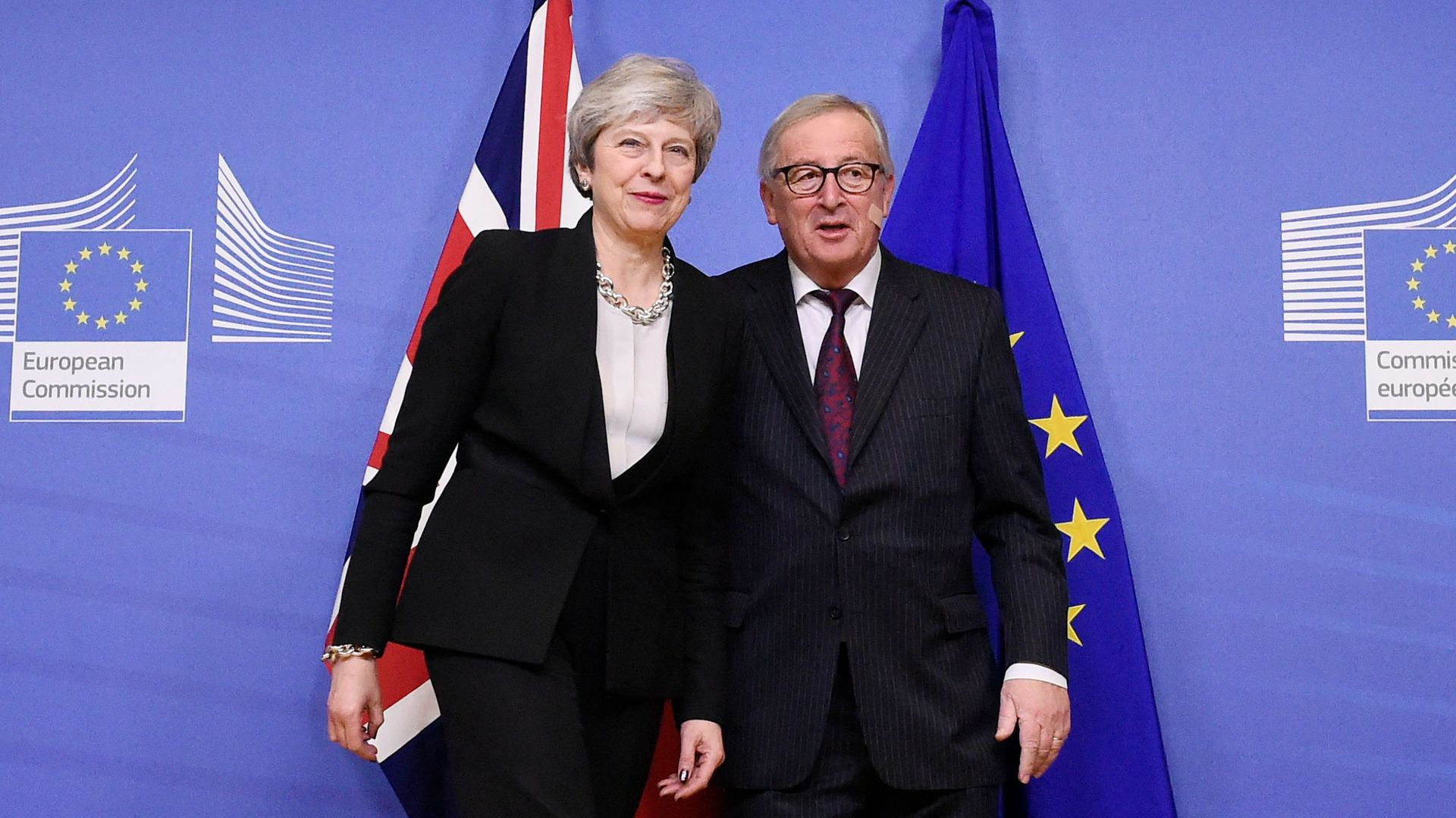 Theresa May spoke with European Commission president Jean-Claude Juncker Sunday evening.