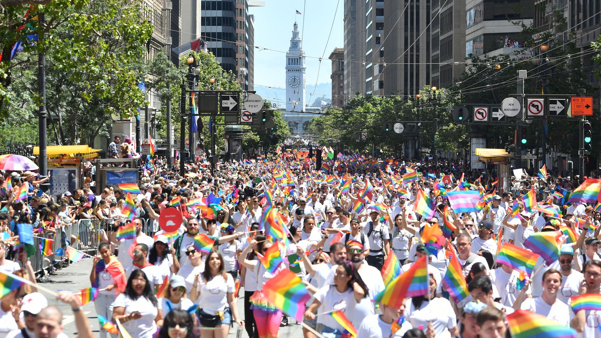 The San Francisco gay pride parade.