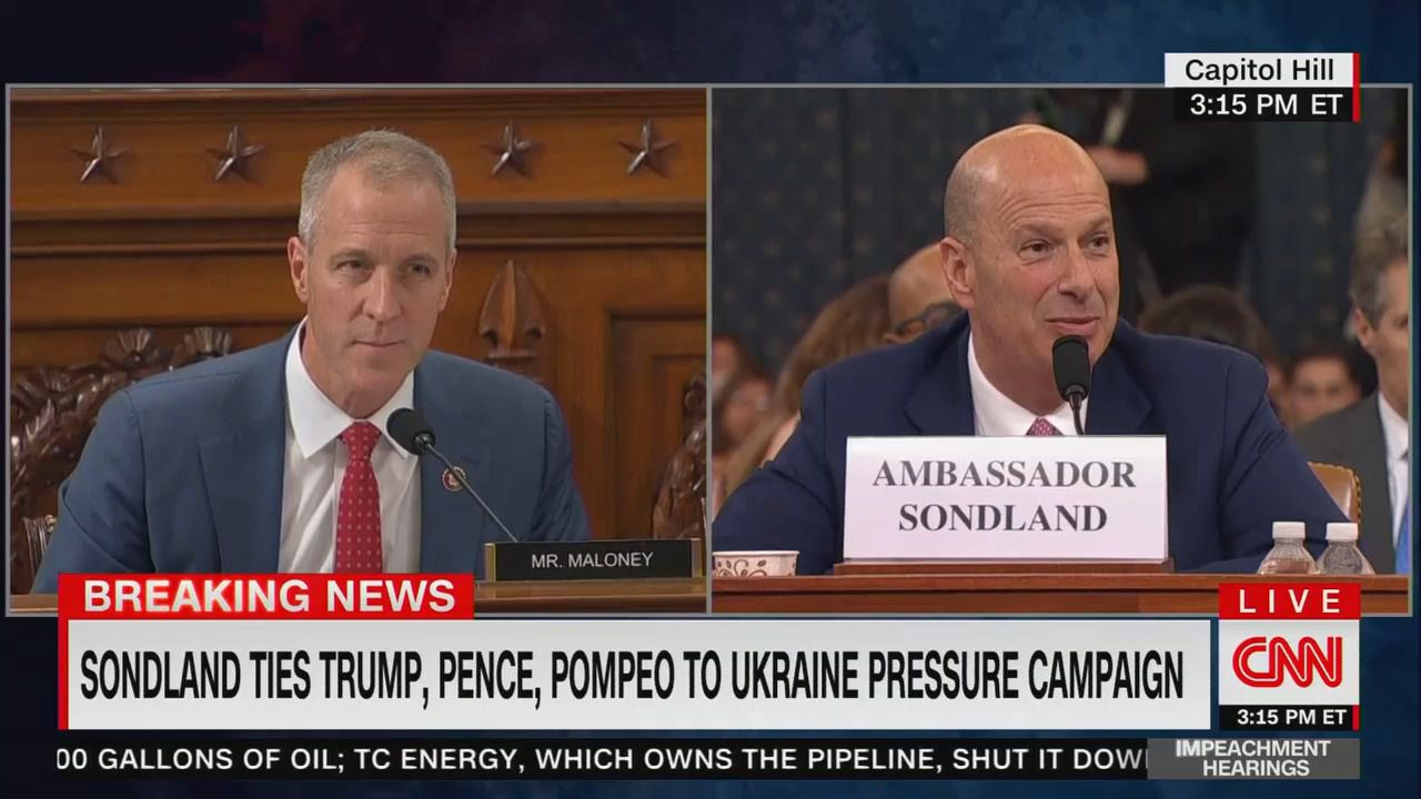 "Sondland: ""I assume Trump would benefit"" from Biden investigation by Ukraine - Axios"