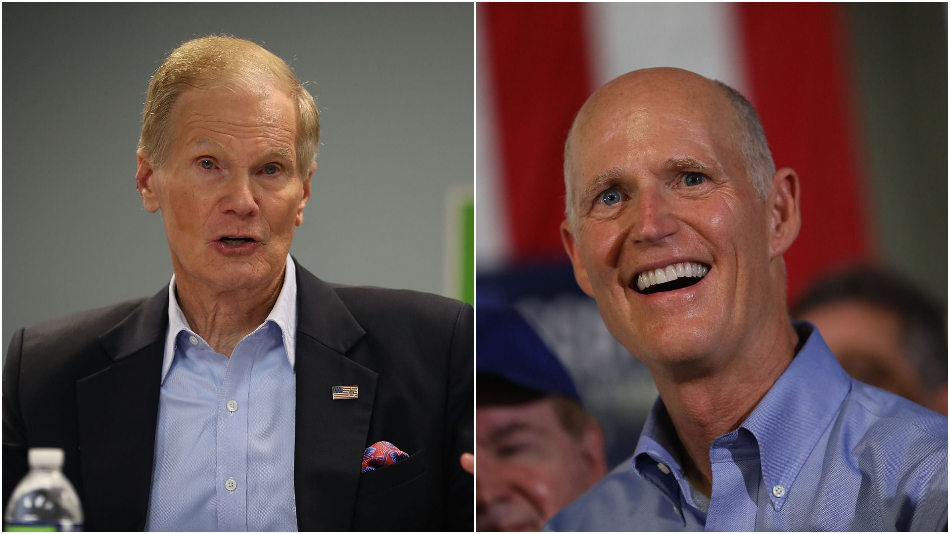 Florida Senate candidates Bill Nelson And Rick Scott