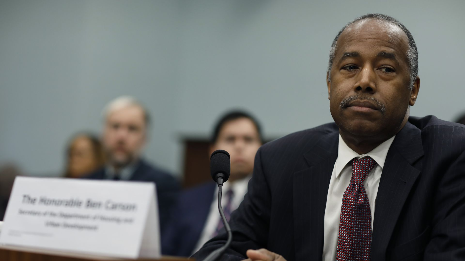 Ben Carson looking sad