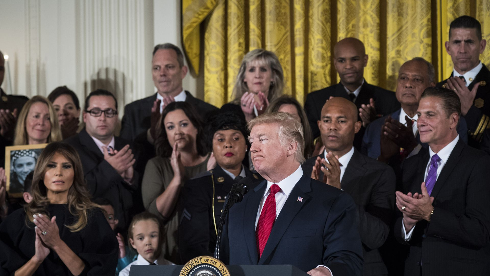 President Trump at an opioids event at the White House last year