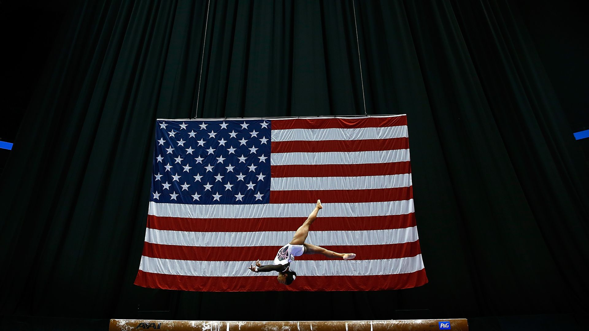 Simone Biles competes on the balance beam during the 2014 P&G Gymnastics Championships at Consol Energy Center on August 21, 2014 in Pittsburgh, Pennsylvania.