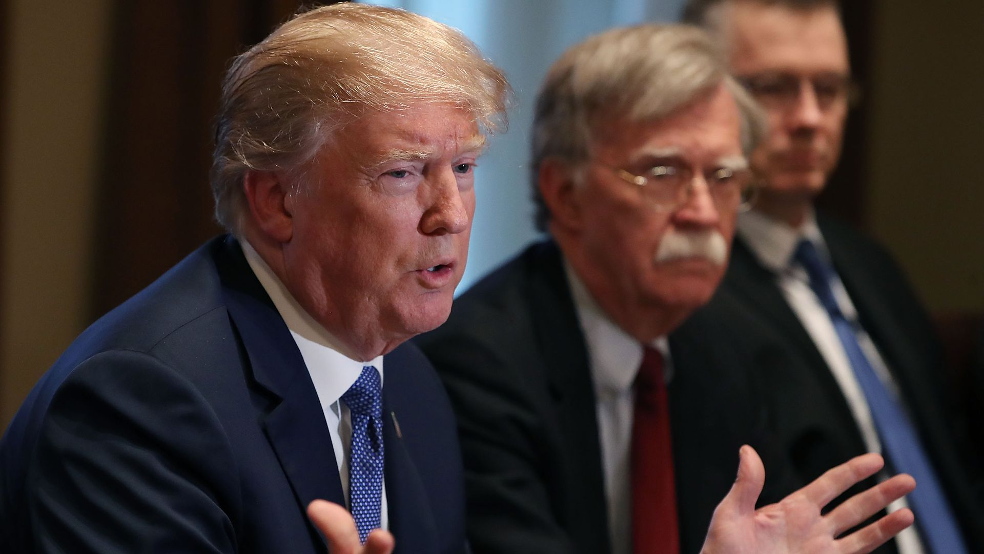 President Donald Trump and his former national security advisor John Bolton