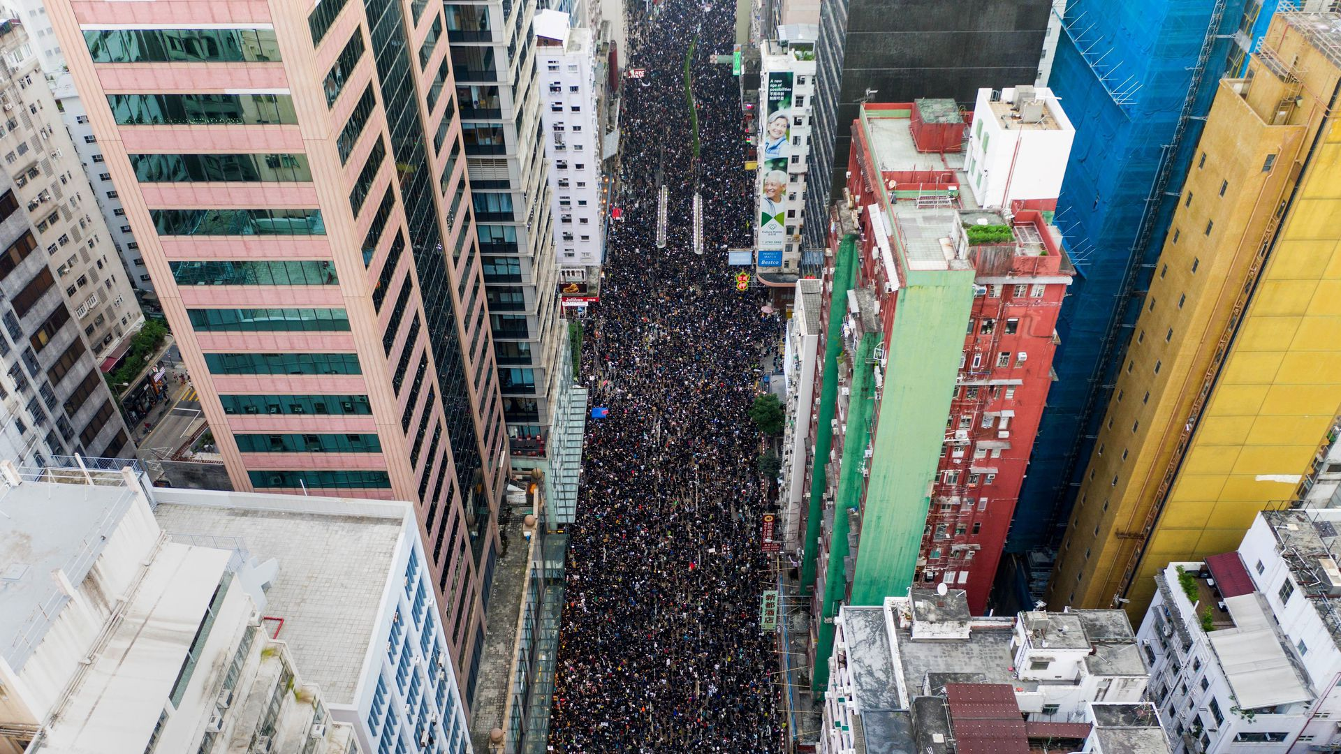 Mass protests in Hong Kong