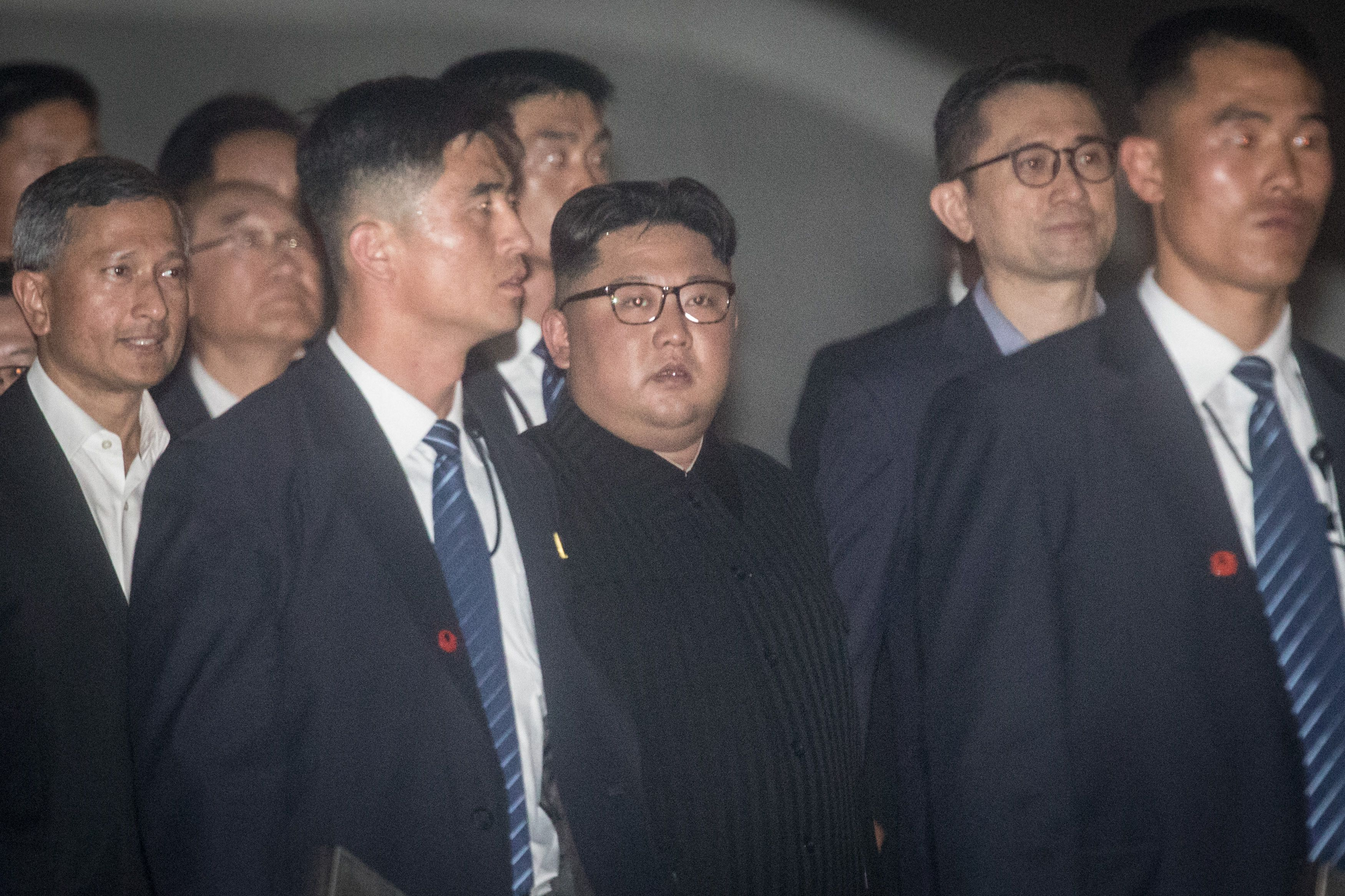 Kim Jong-un among bodyguards