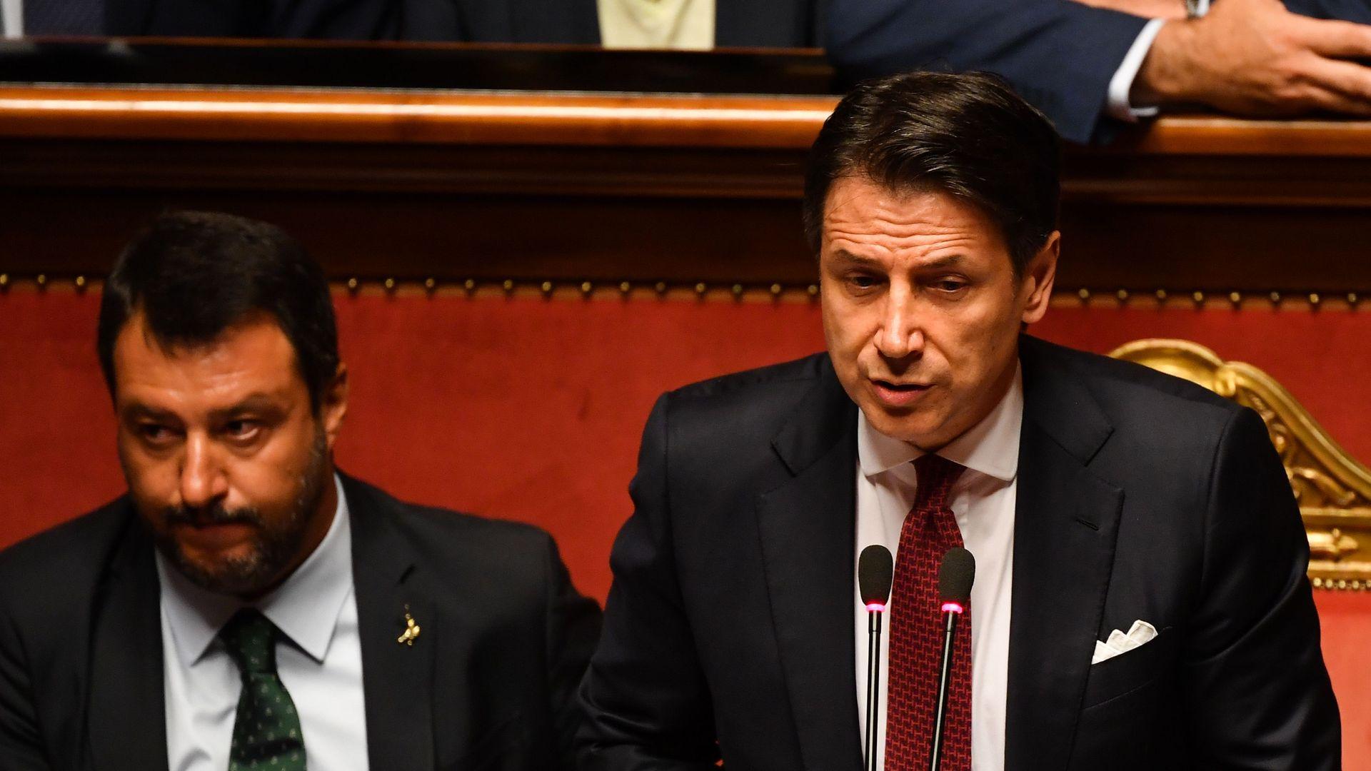 Giuseppe Conte and Matteo Salvini