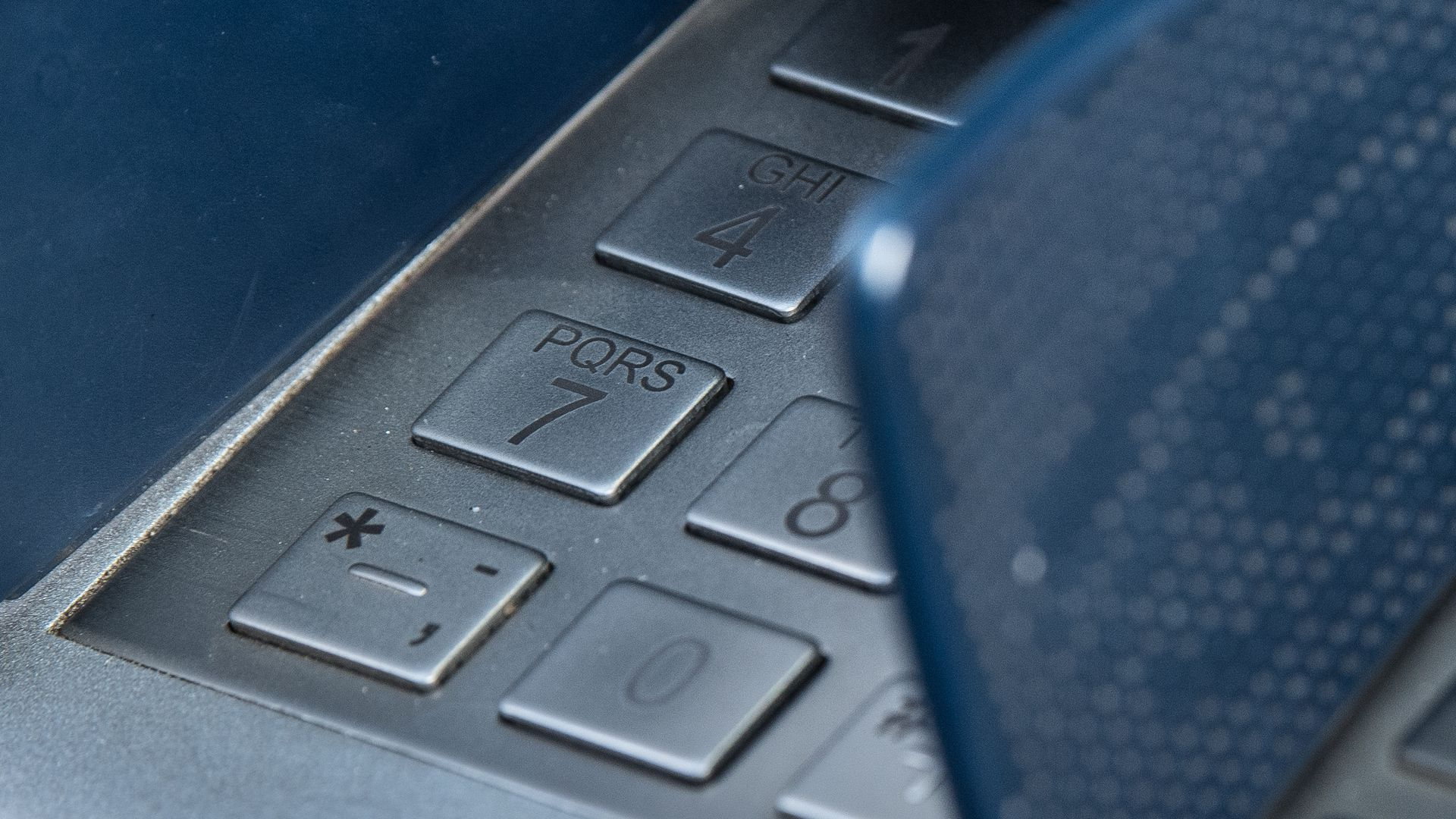 Pin pad numbers for ATM displayed.