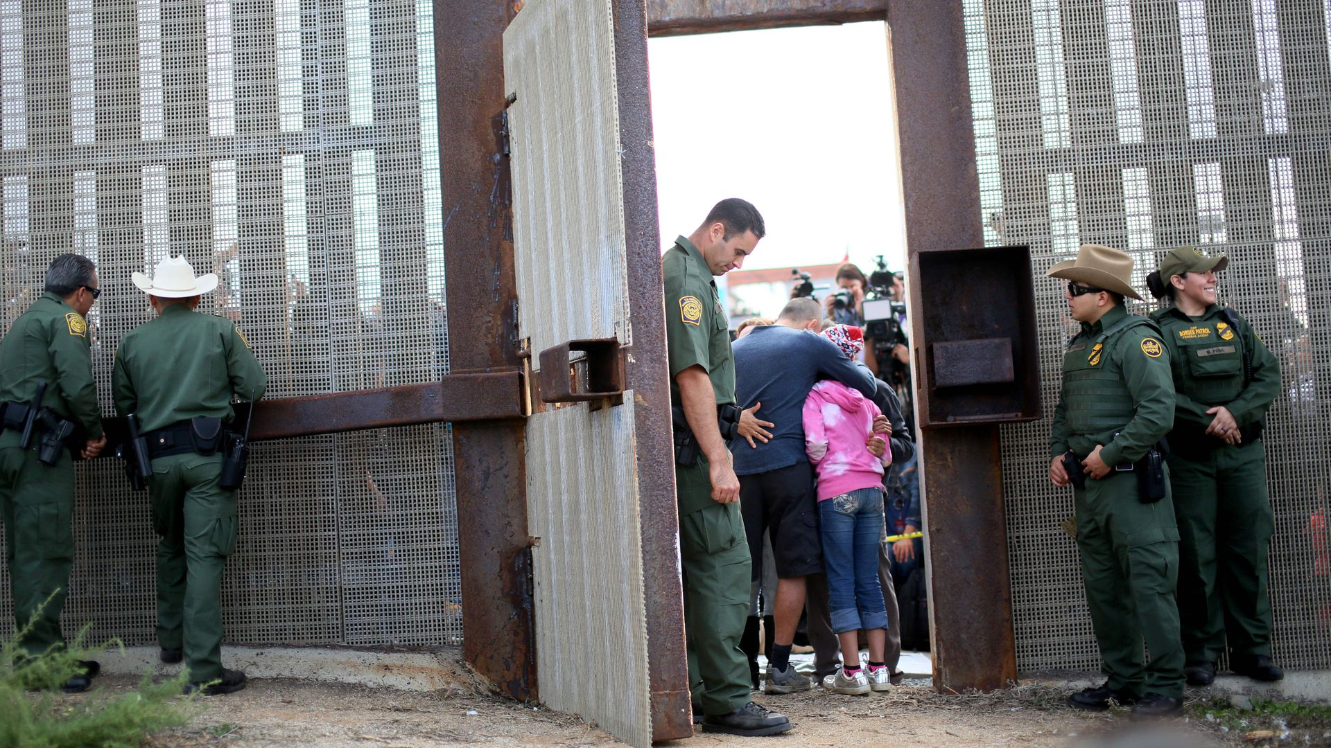 Migrants at the United States-Mexico Border