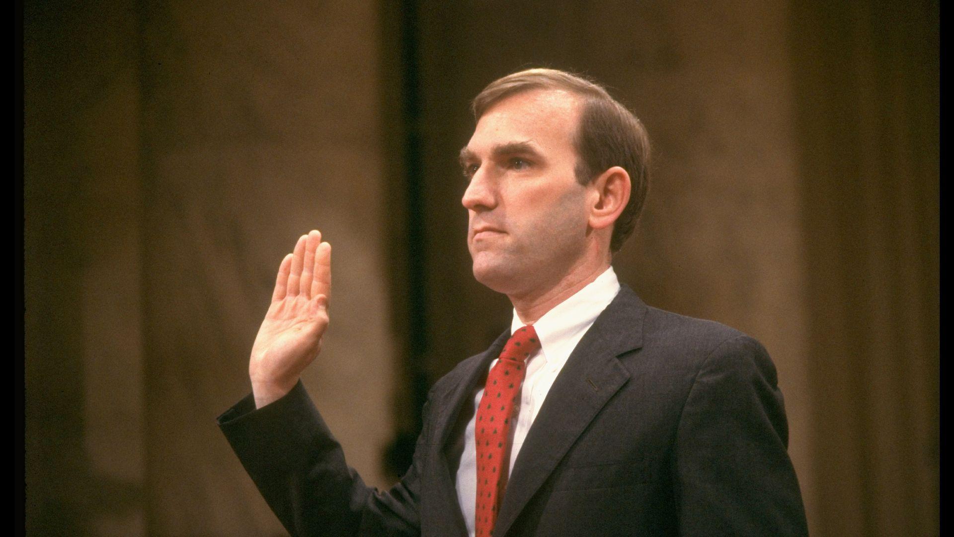 Elliott Abrams being sworn in