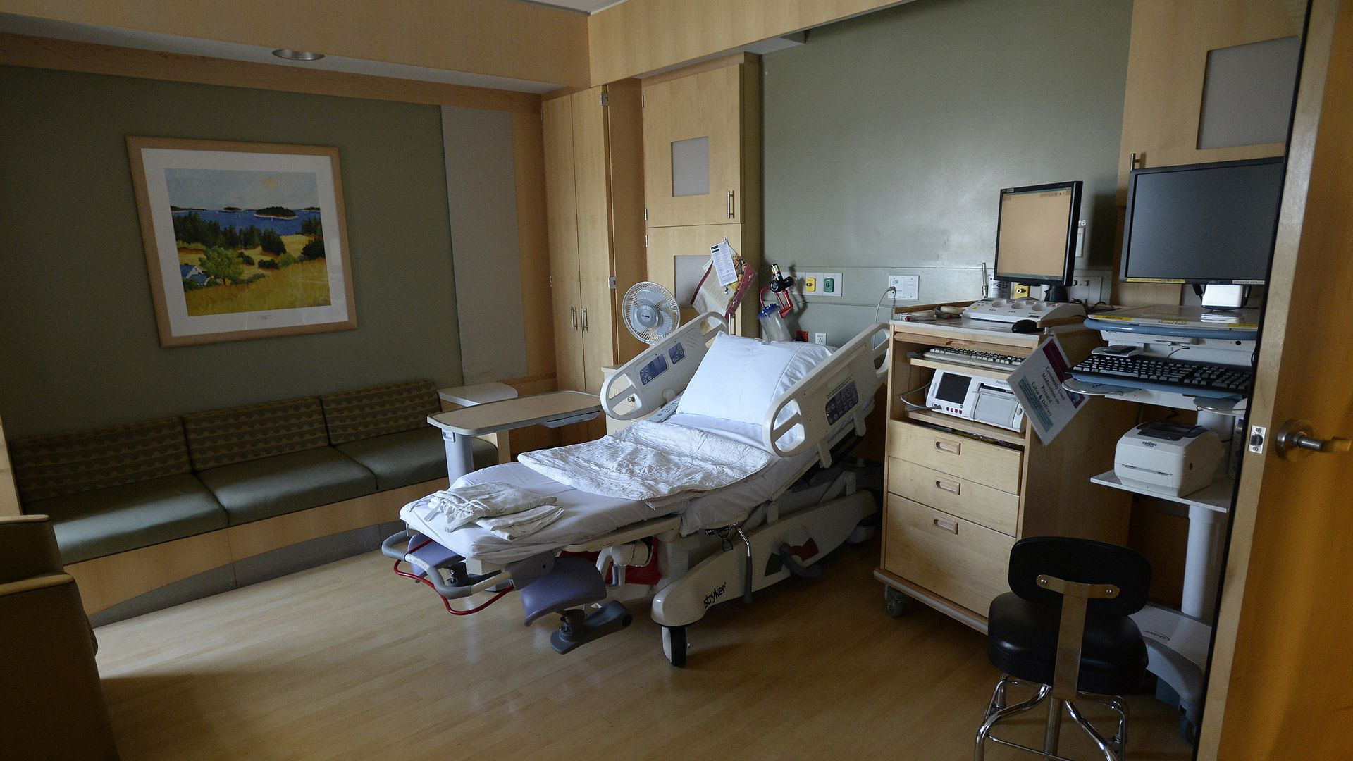 A room in a maternity ward