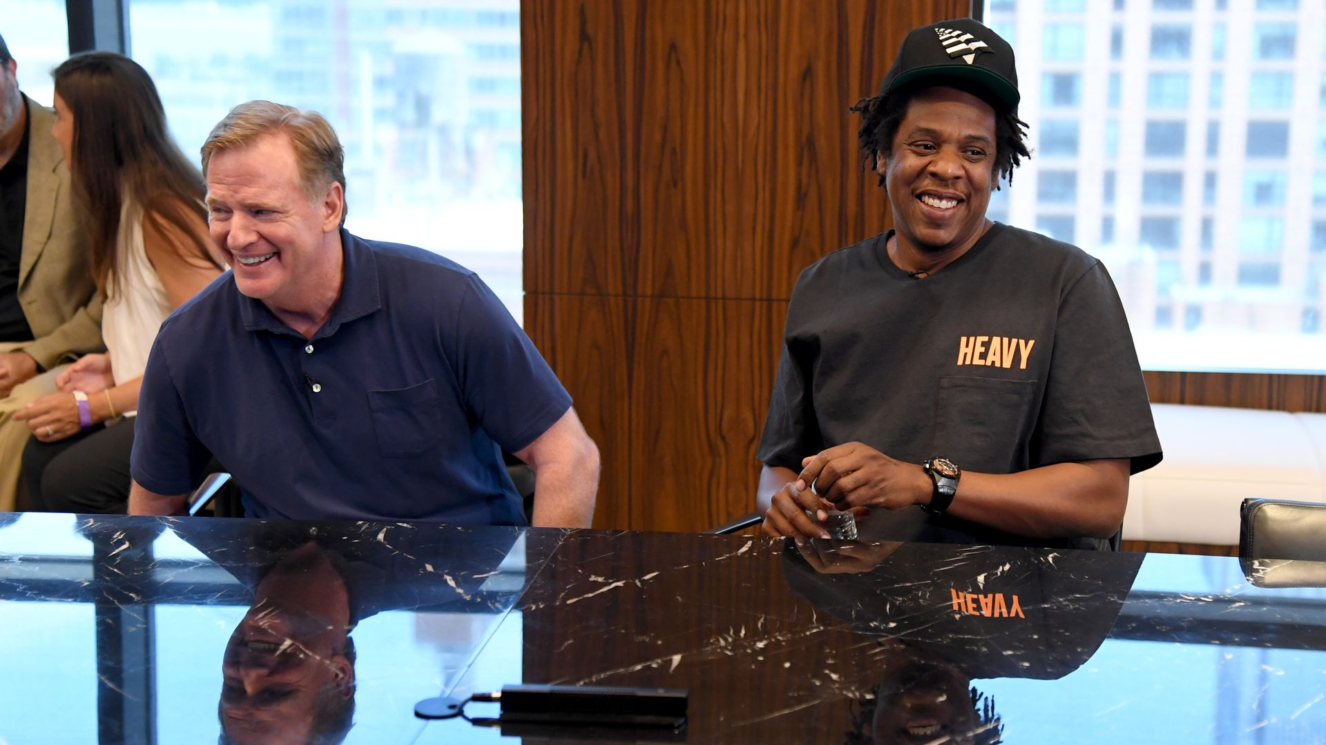Jay Z and Roger Goodell