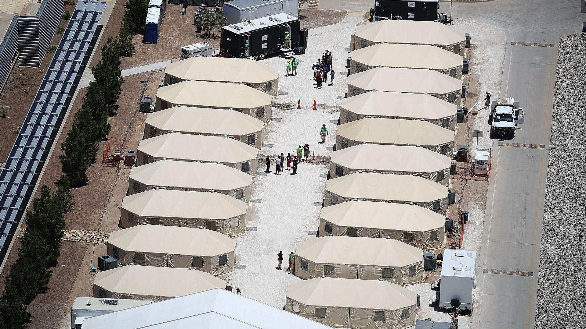 Tent encampment for immigrant children