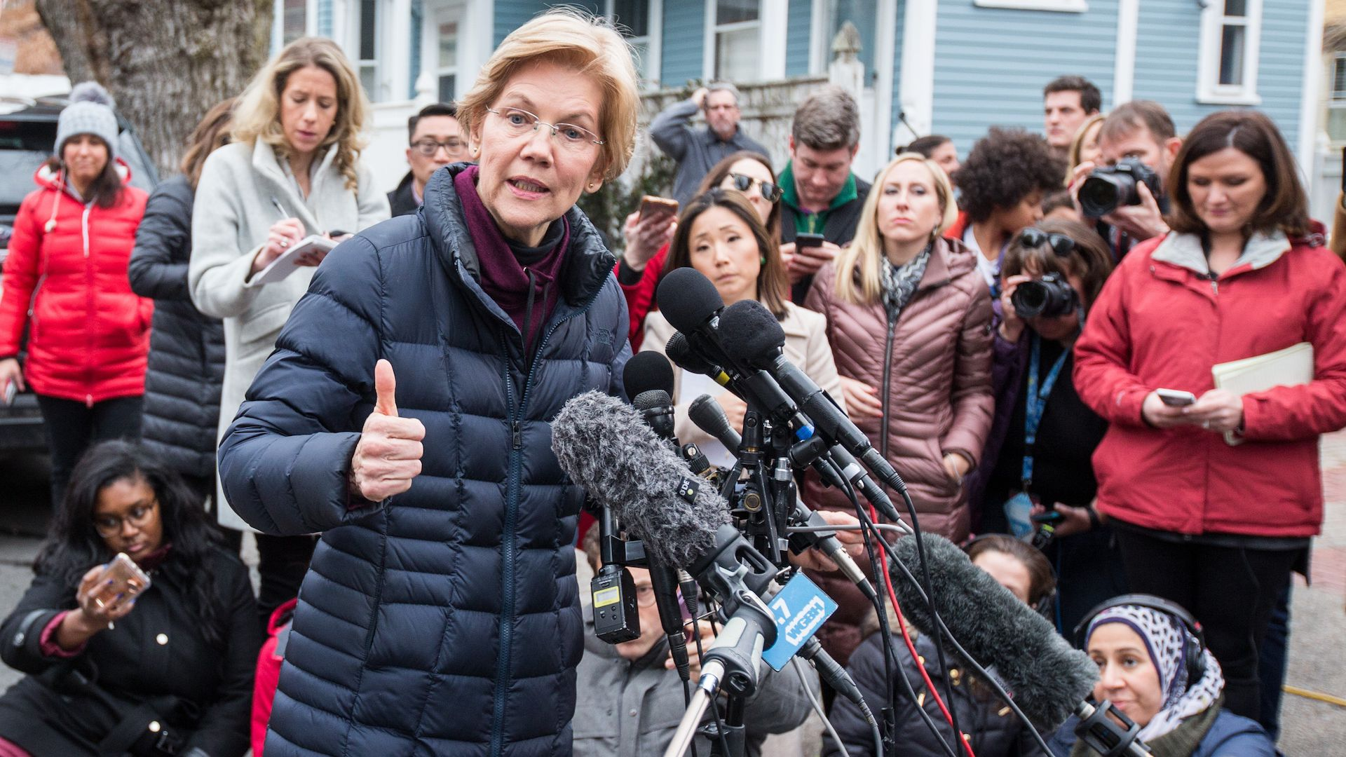 Senator Elizabeth Warren announces her bid for the presidency on Dec. 31, 2018.