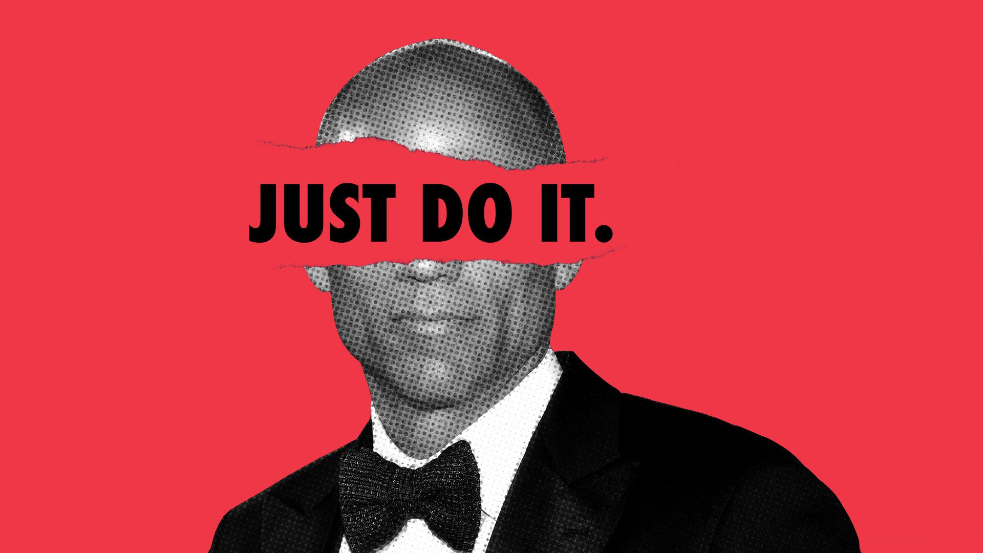 "Illustration of Michael Avenatti with ""Just do it"" written across his face"