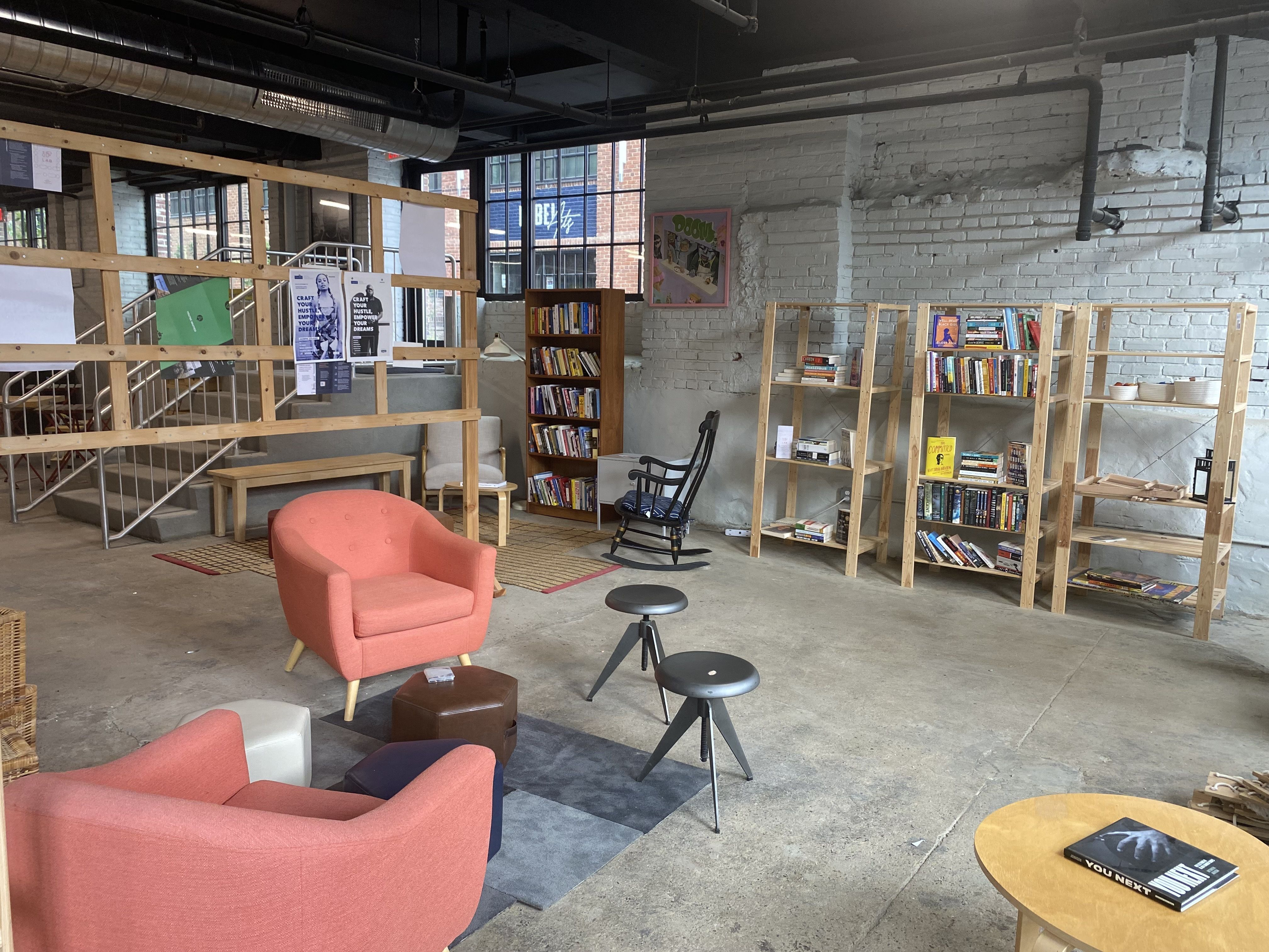 IF lab will offer resources for businesses owned by people of color. It will include a small library, a tech center, and co-working spaces. Photo: Taylor Allen/Axios