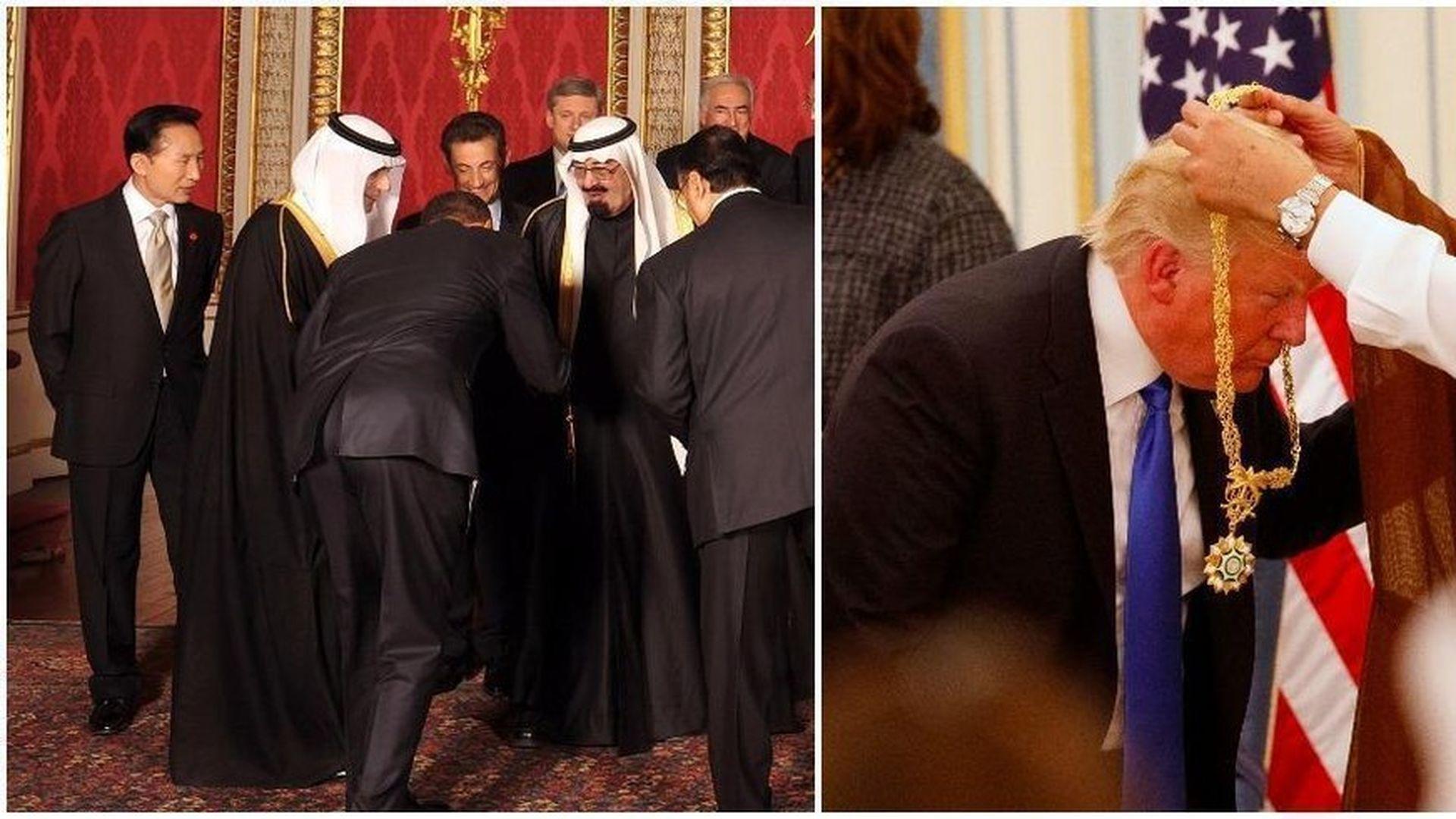 Conservative Media Coverage Gap On Trump Obama Bows Axios