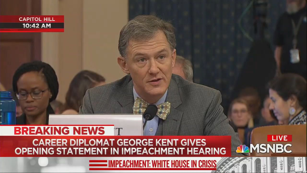 George Kent defends colleagues against anti-immigrant attacks in impeachment testimony - Axios