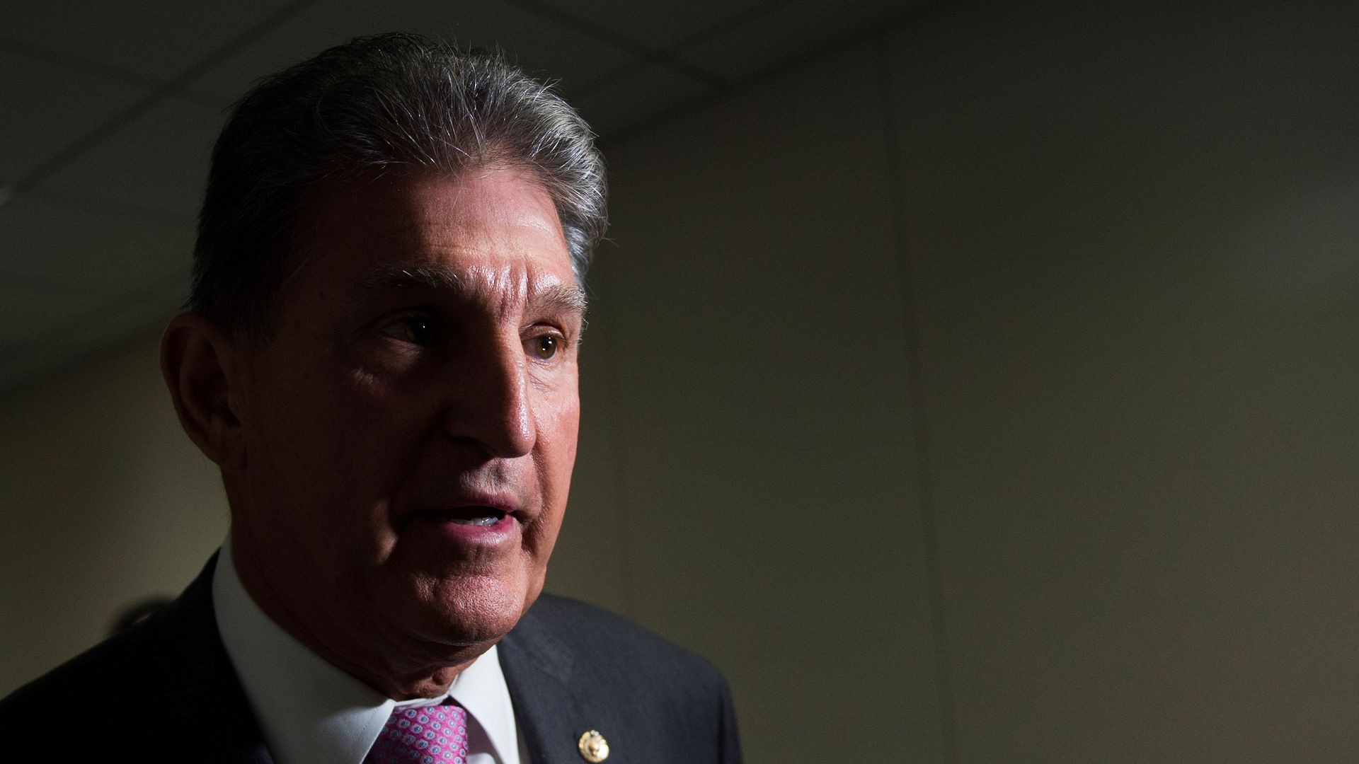 Sen. Manchin in darkness