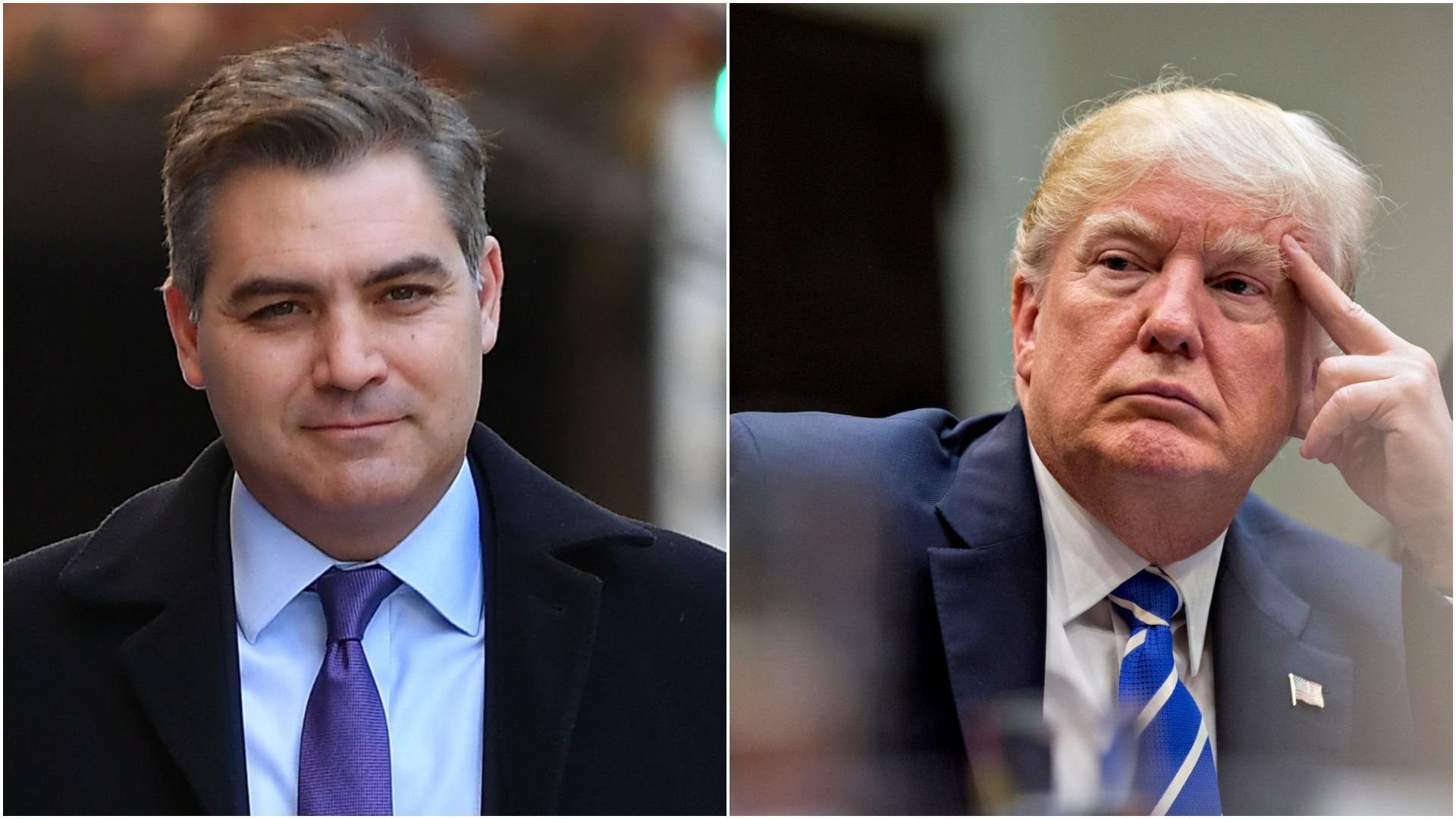 CNN Chief White House Correspondent, Jim Acosta and President Trump
