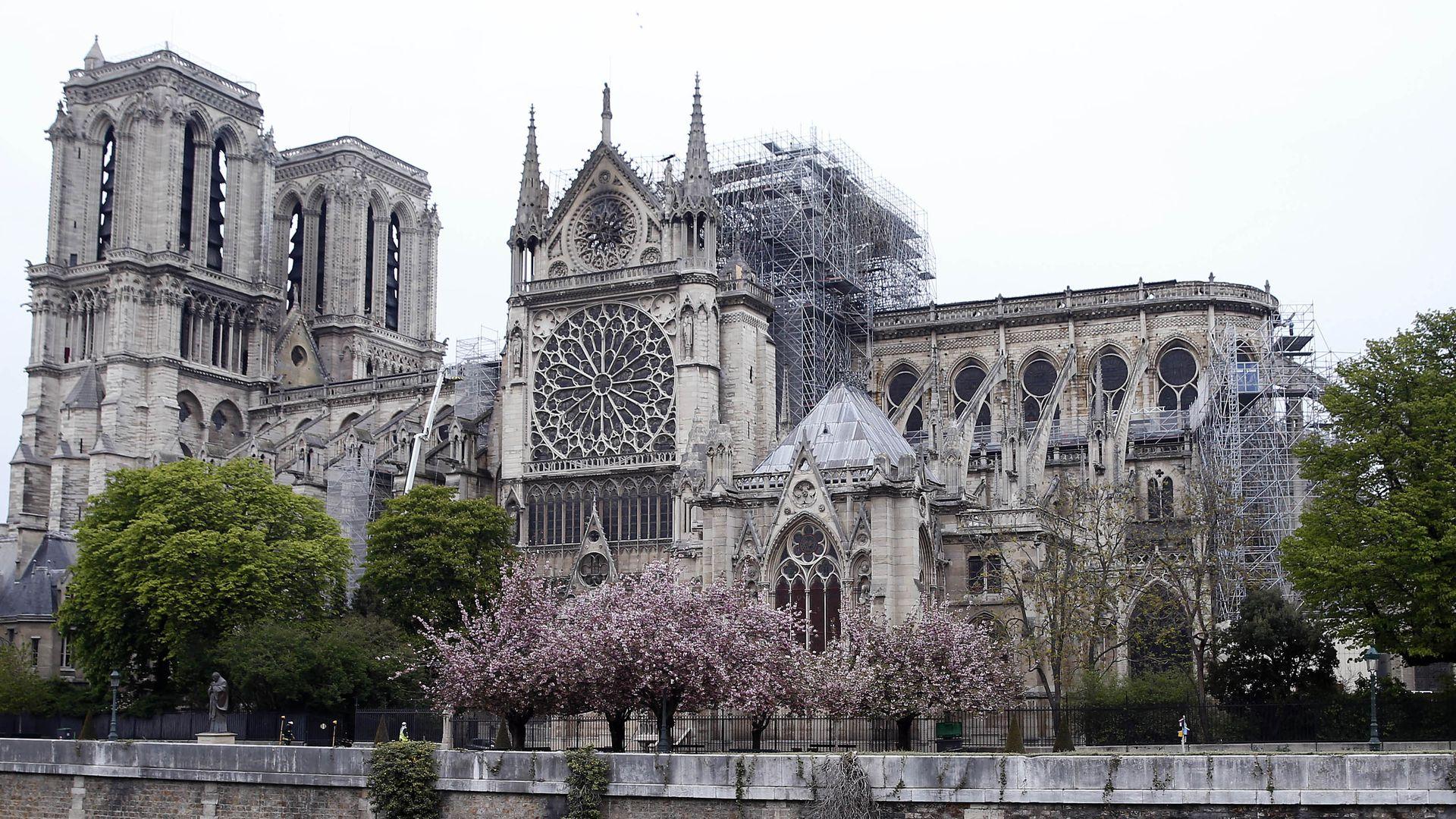 The Notre Dame damage