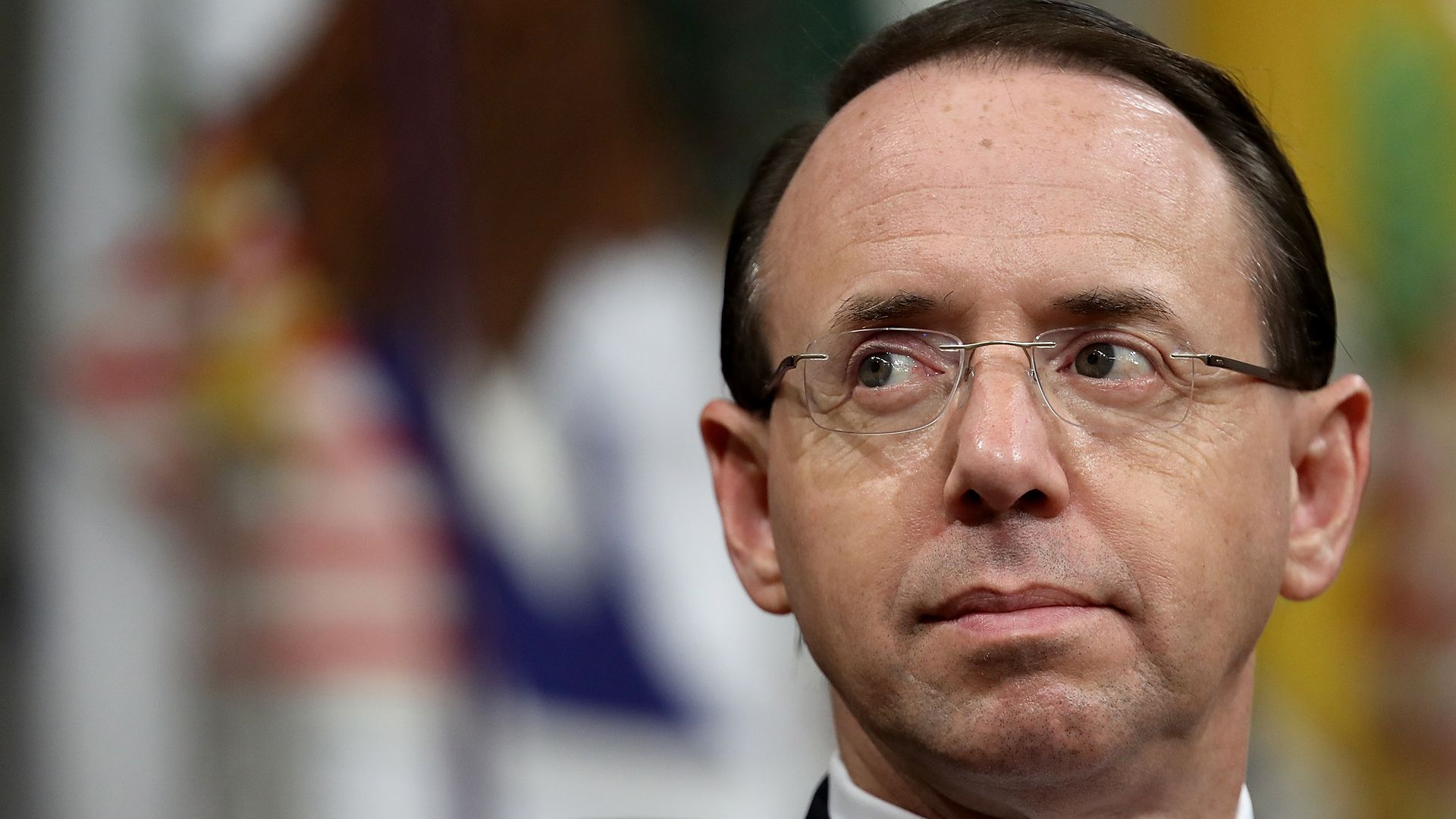 Close up of Deputy Attorney General Rod Rosenstein