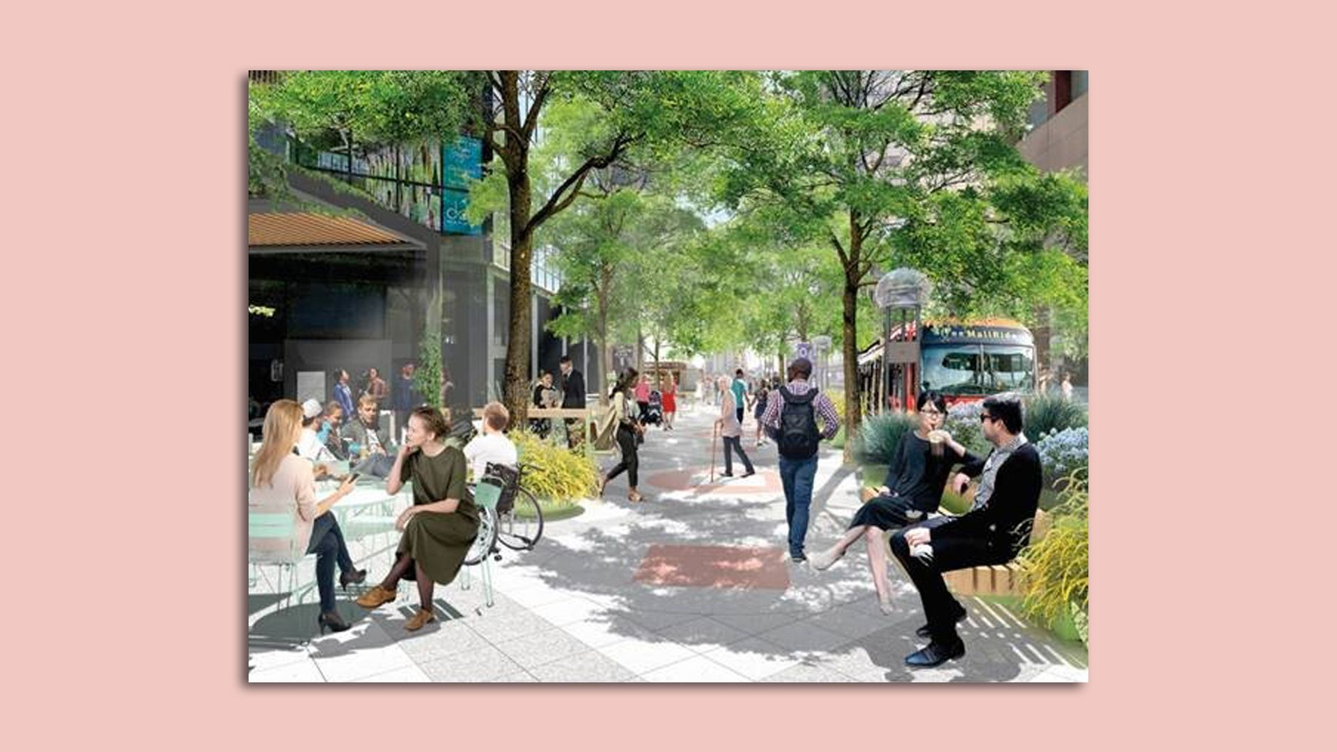 Rendering of the upgrade to 16th Street Mall