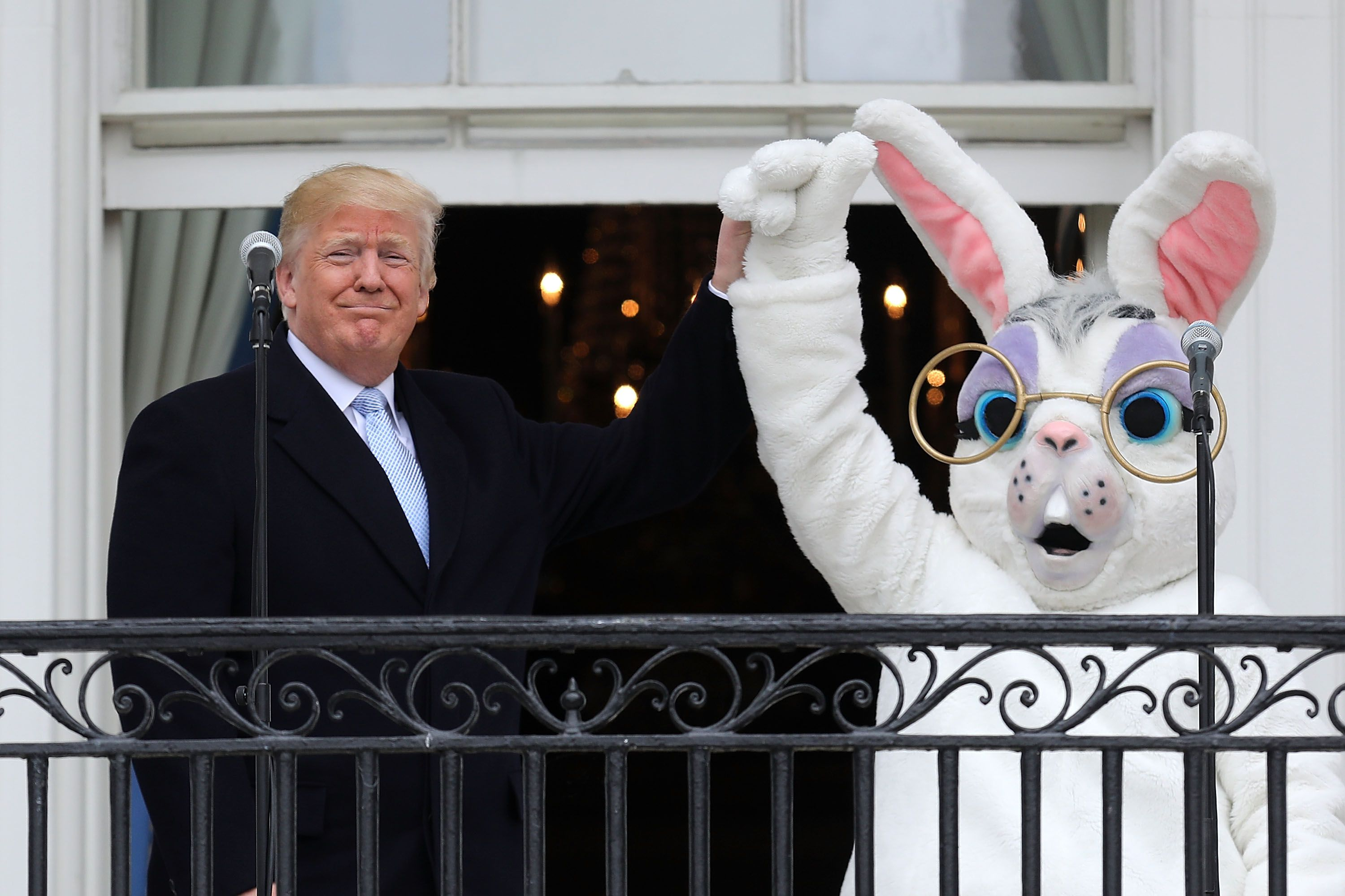 Donald Trump and the Easter bunny