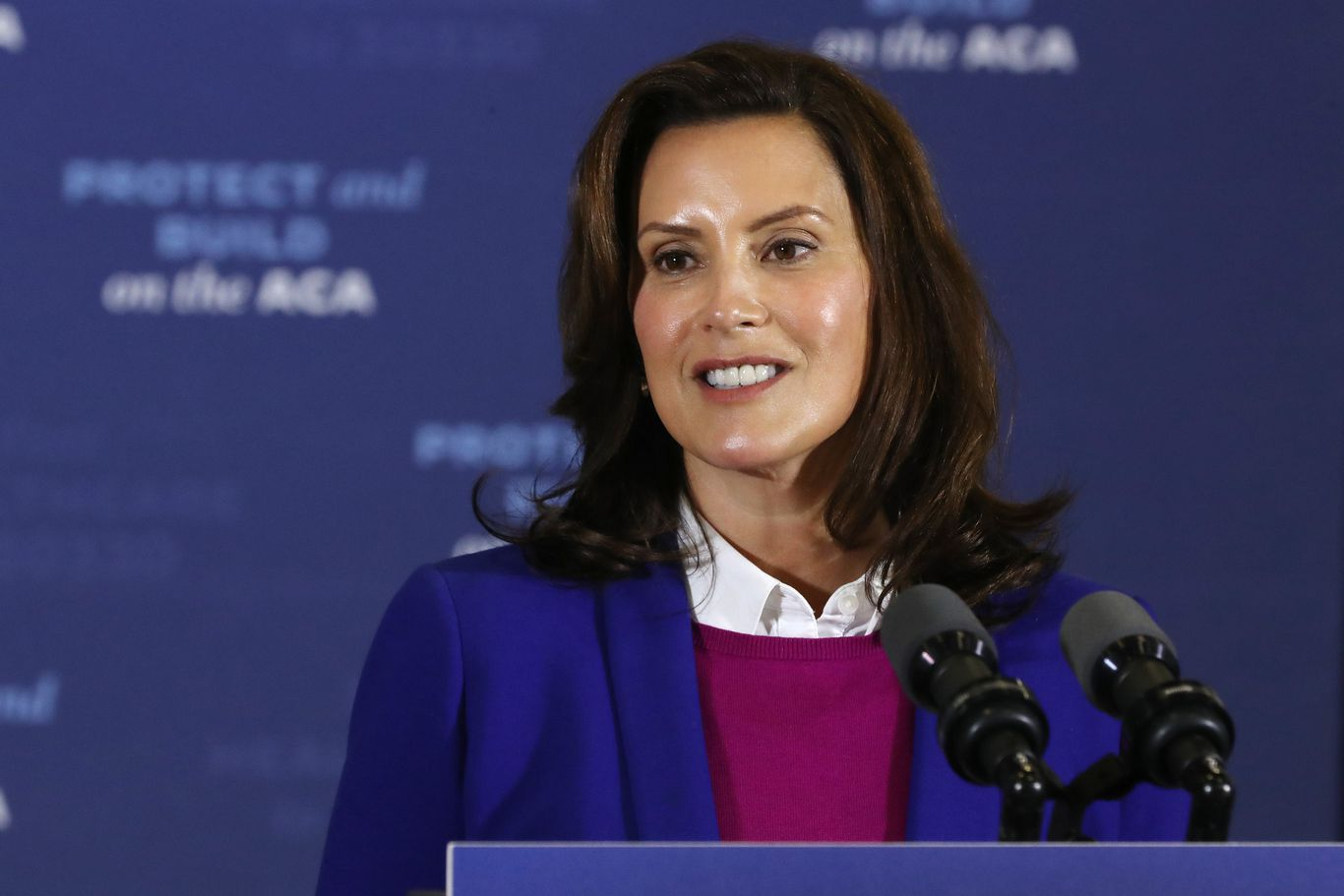 "Whitmer: Trump is ""putting leaders, especially women leaders, at risk"""