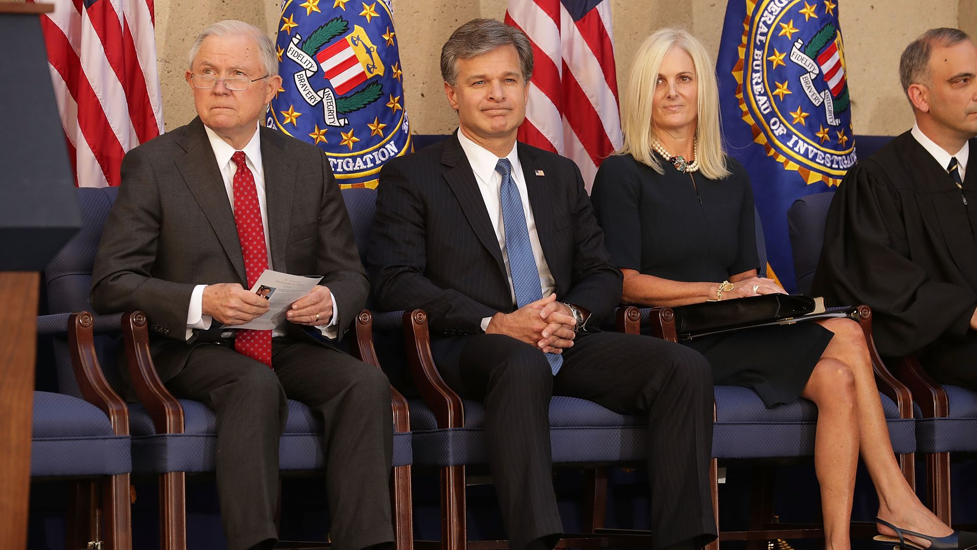 Wray threatened to resign because of pressure from Trump, Sessions
