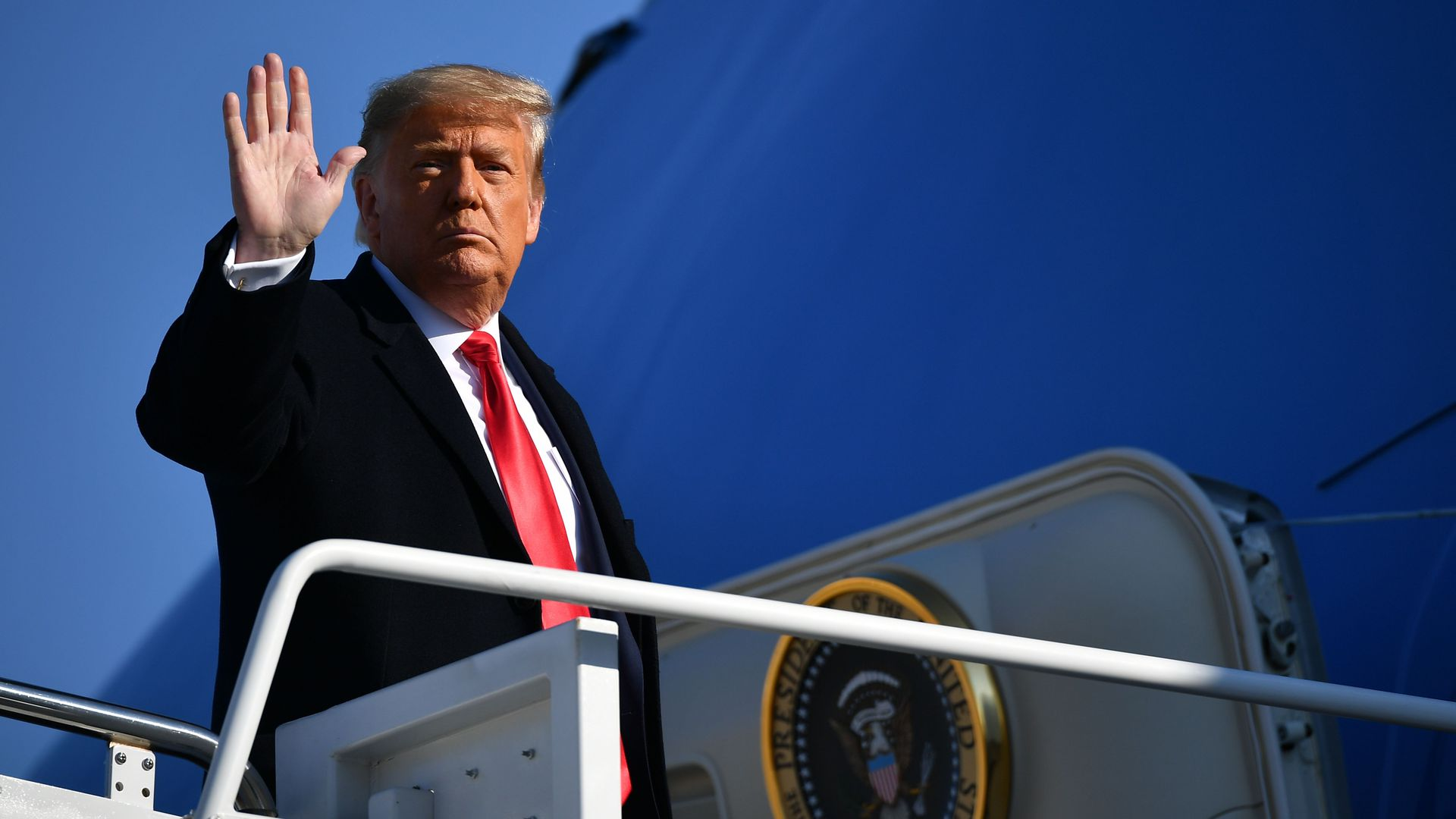 """Trump gives farewell address: """"We did what we came here to do"""" - Axios"""