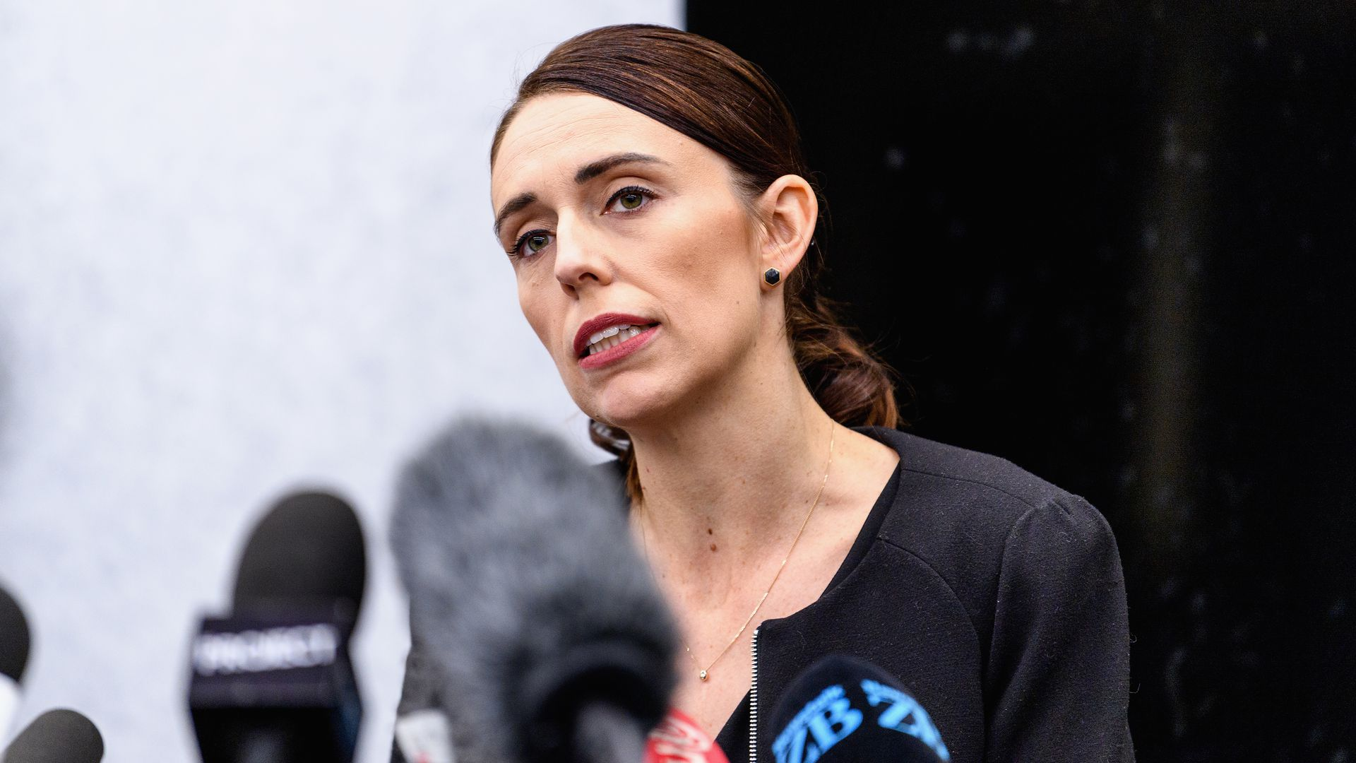 New Zealand Prime Minister Jacinda Ardern announces gun ban.