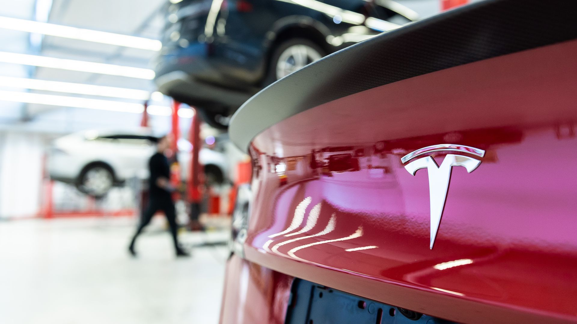 Photo of the trunk of a Tesla vehicle
