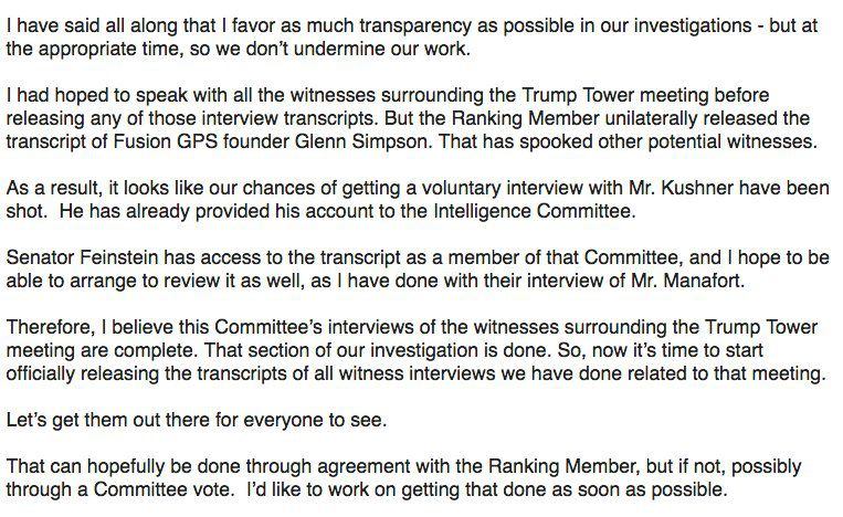 Grassley statement