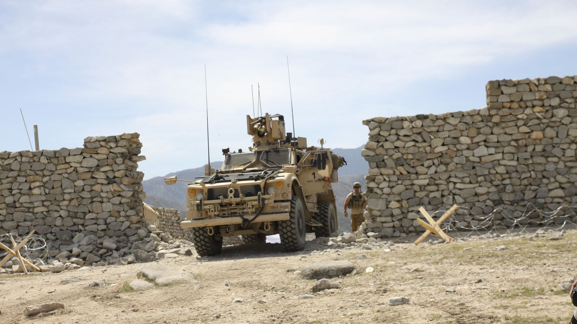 armored vehicle in Afghanistan