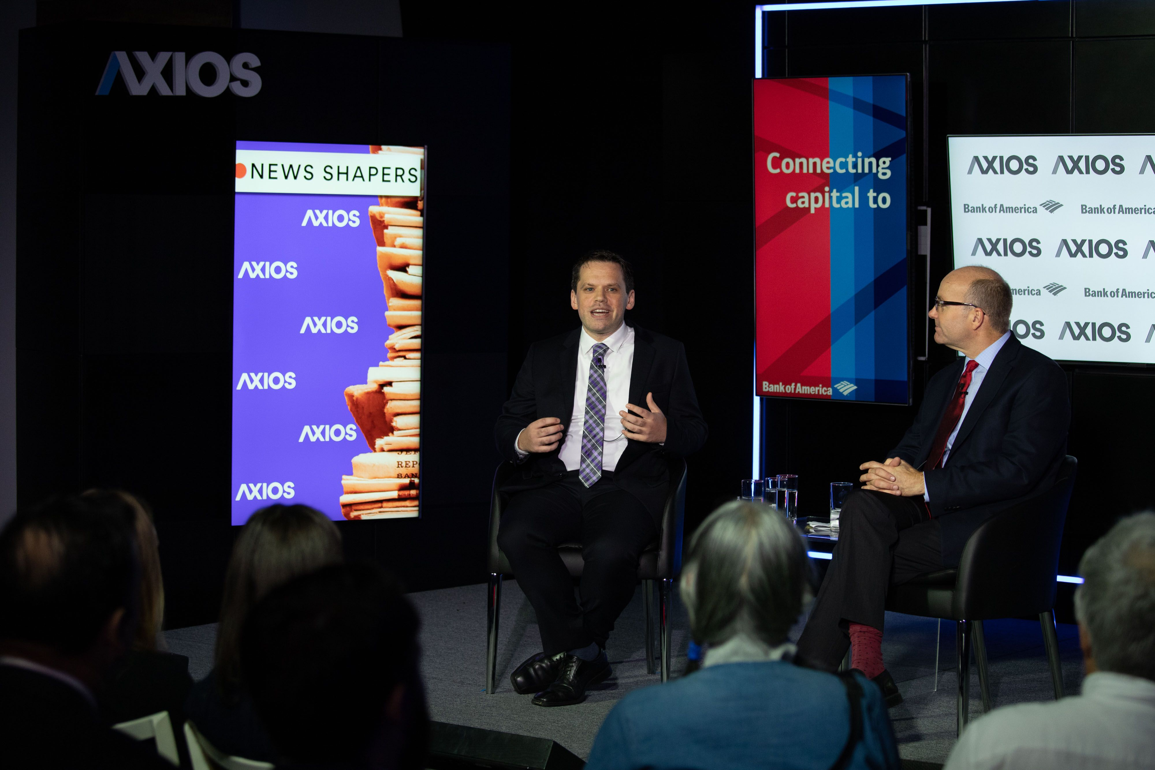 American Vaping Association President Gregory Conley being interviewed by Mike on the Axios stage