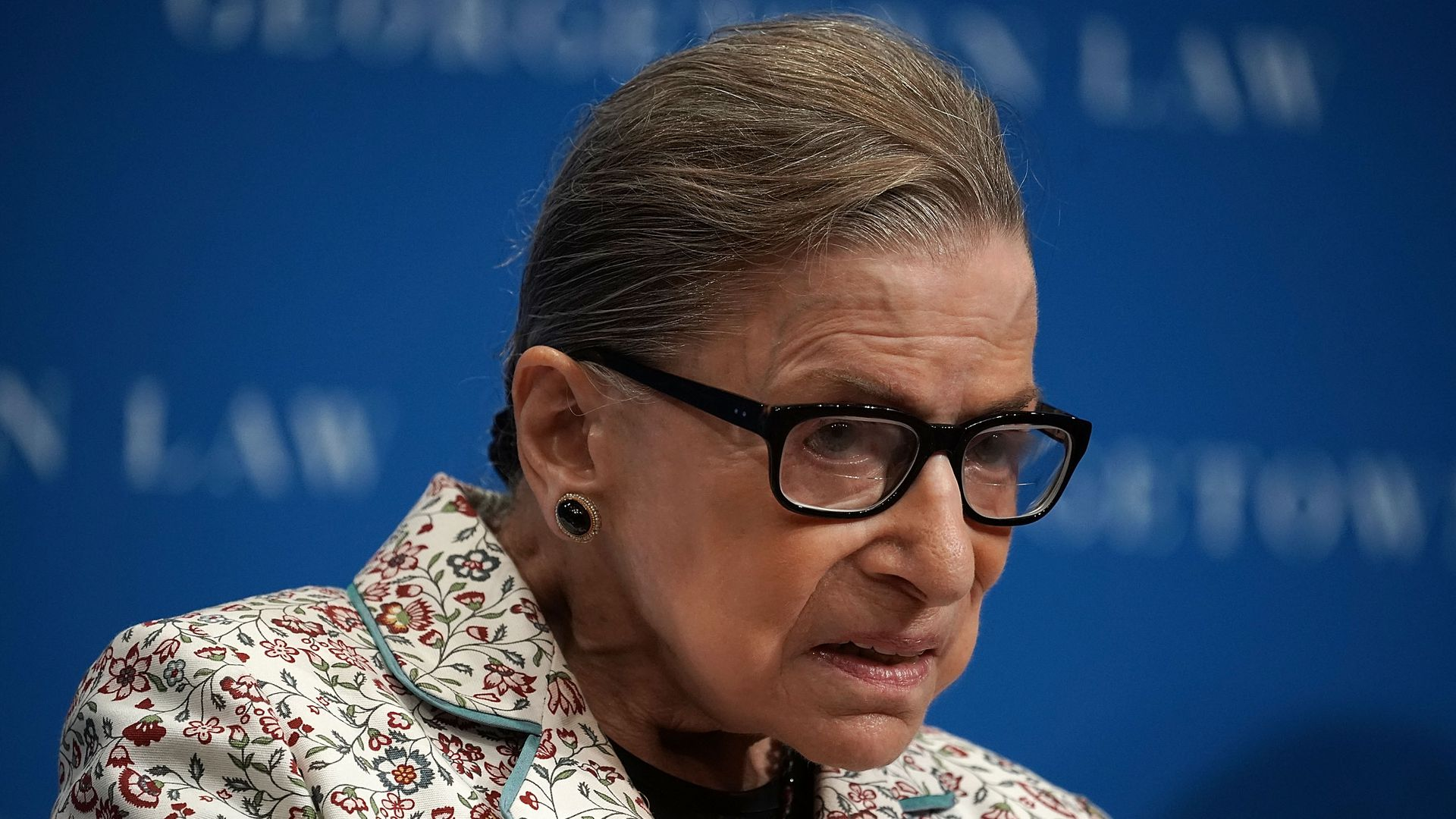 Ruth Bader Ginsburg looks tired.