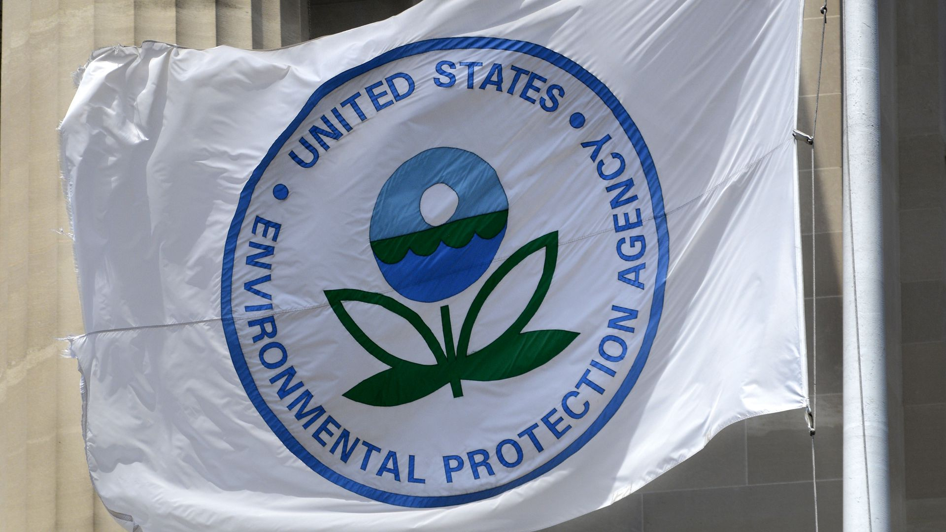 A flag with the EPA logo.