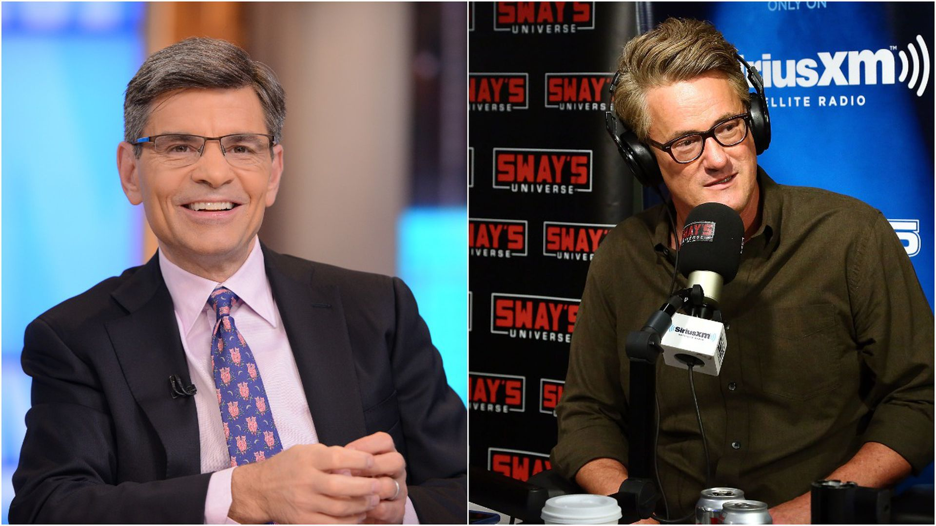 George Stephanopoulos of ABC News and Joe Scarborough of MSNBC.