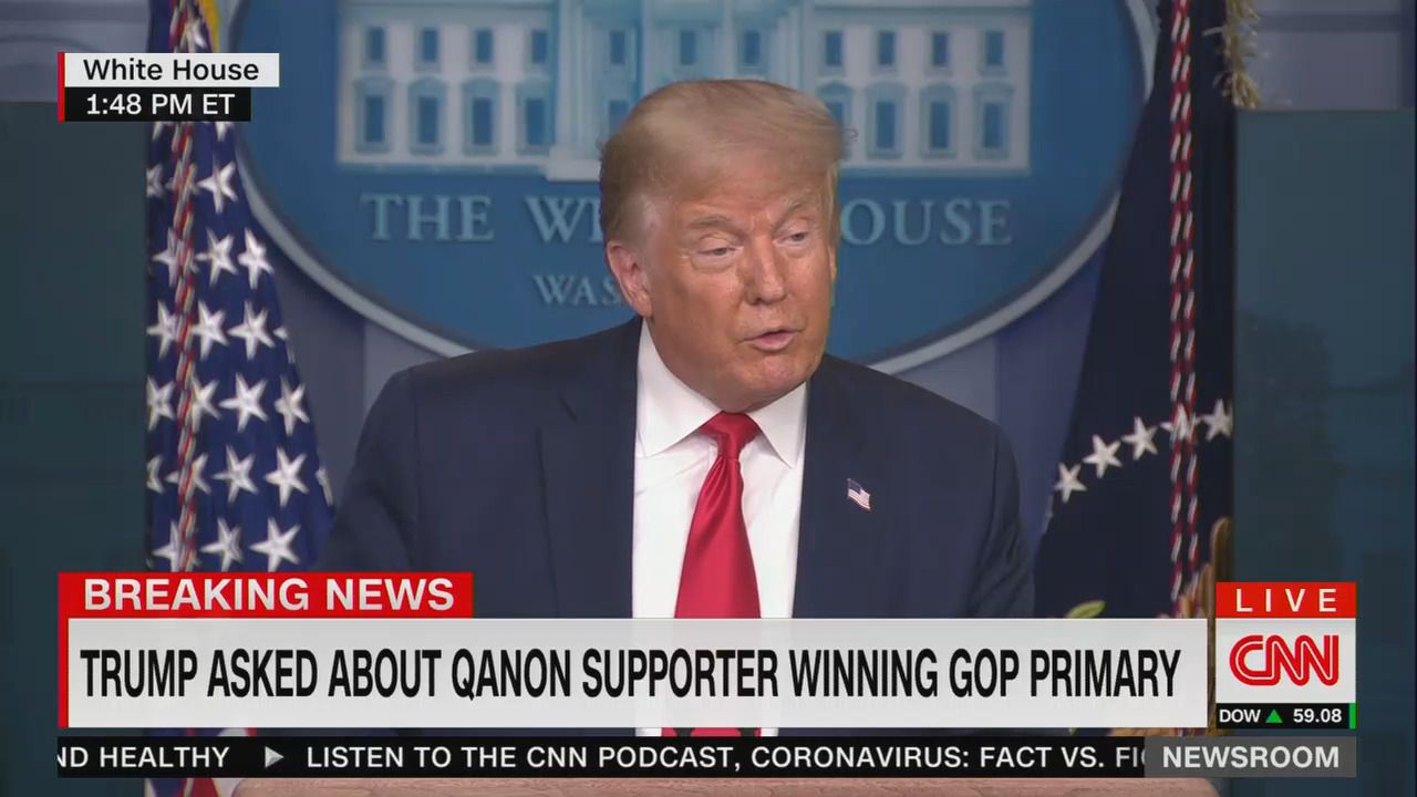 Trump refuses to answer question on whether he supports QAnon conspiracy theory thumbnail