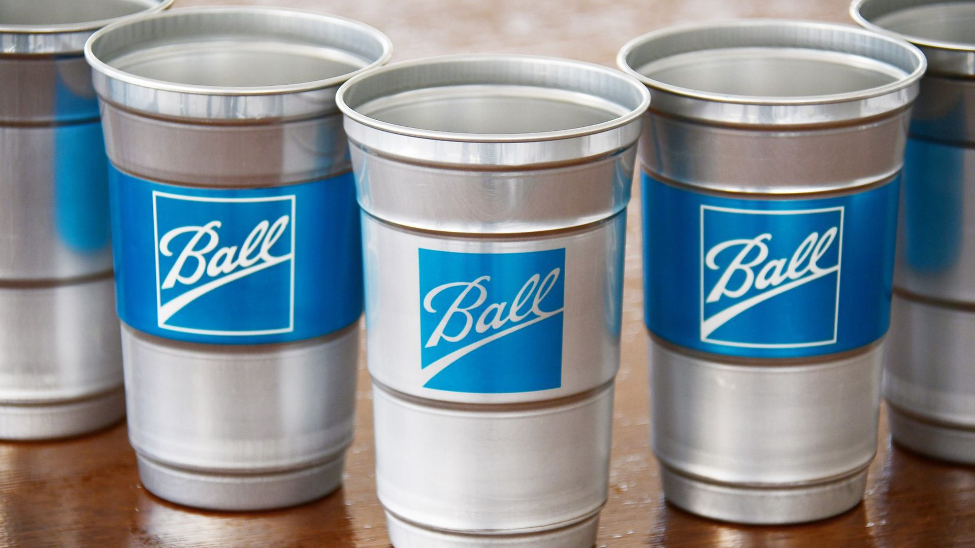 Recyclable aluminum cups by Ball Corporation