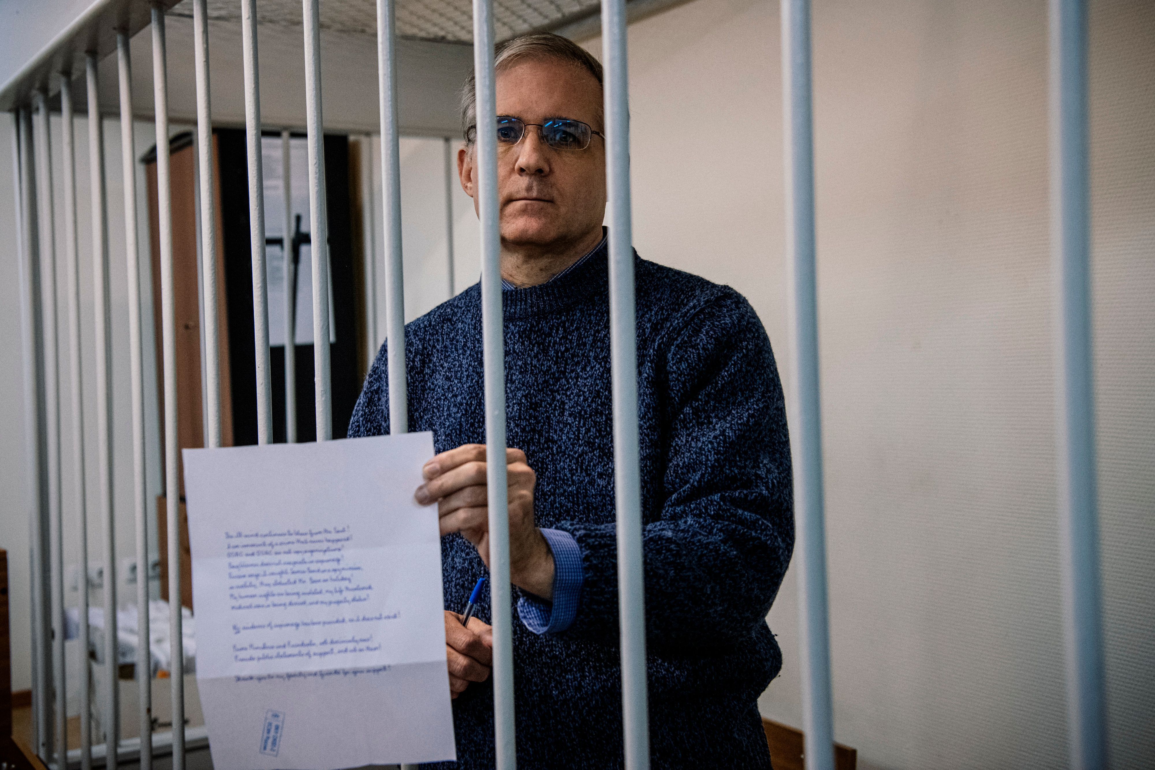 Russia asks for 18-year sentence for former U.S. Marine Paul Whelan