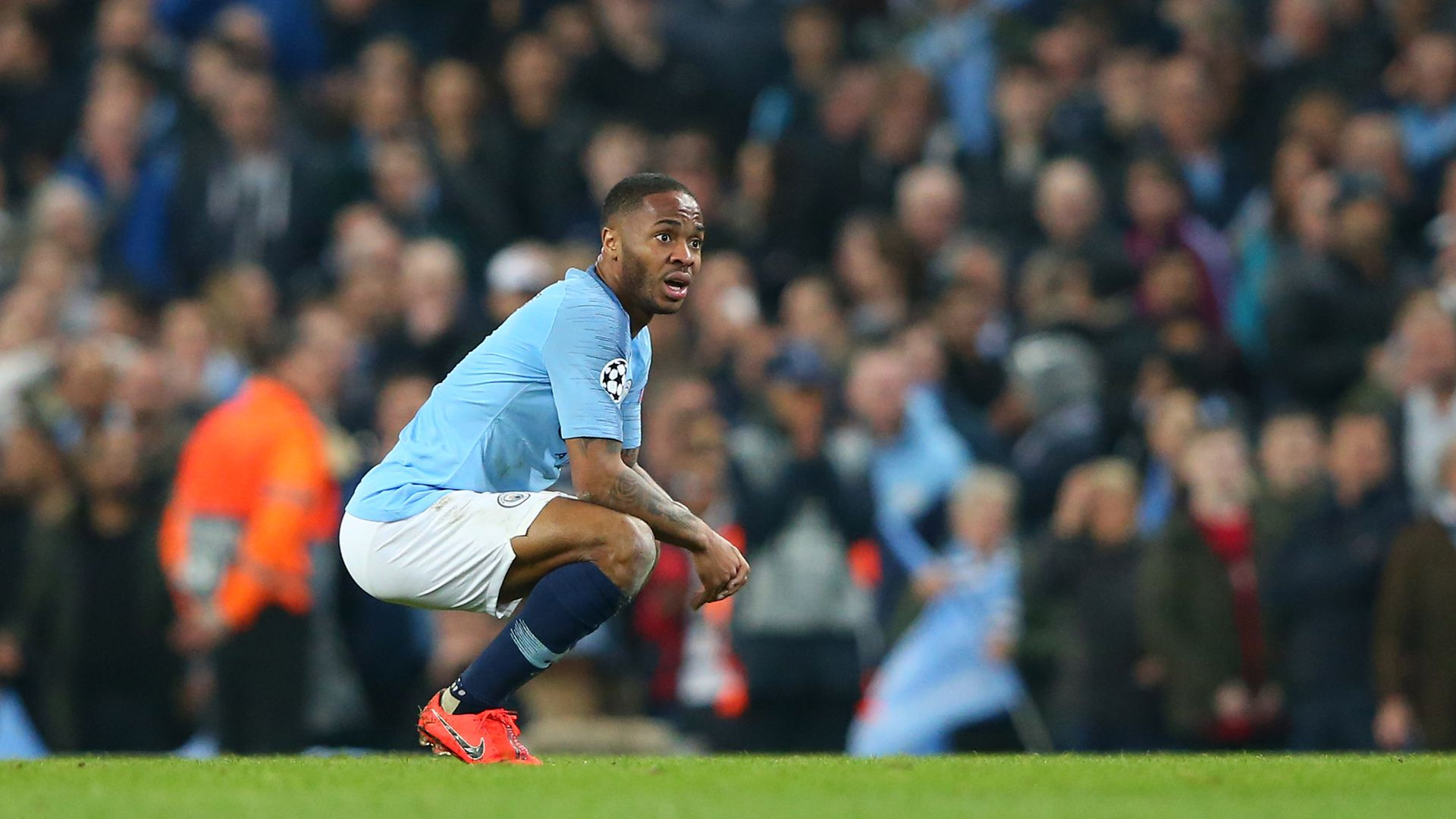 Raheem Sterling looking dejected