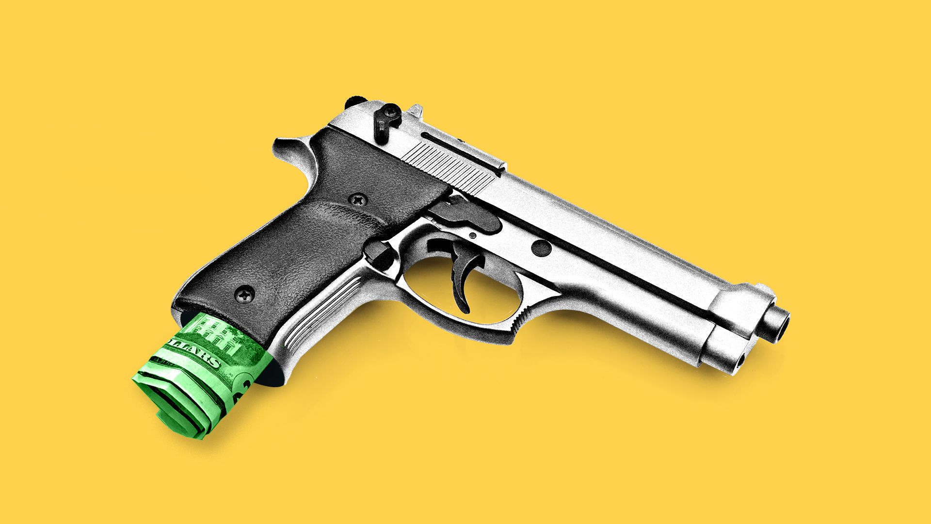 illustration of gun