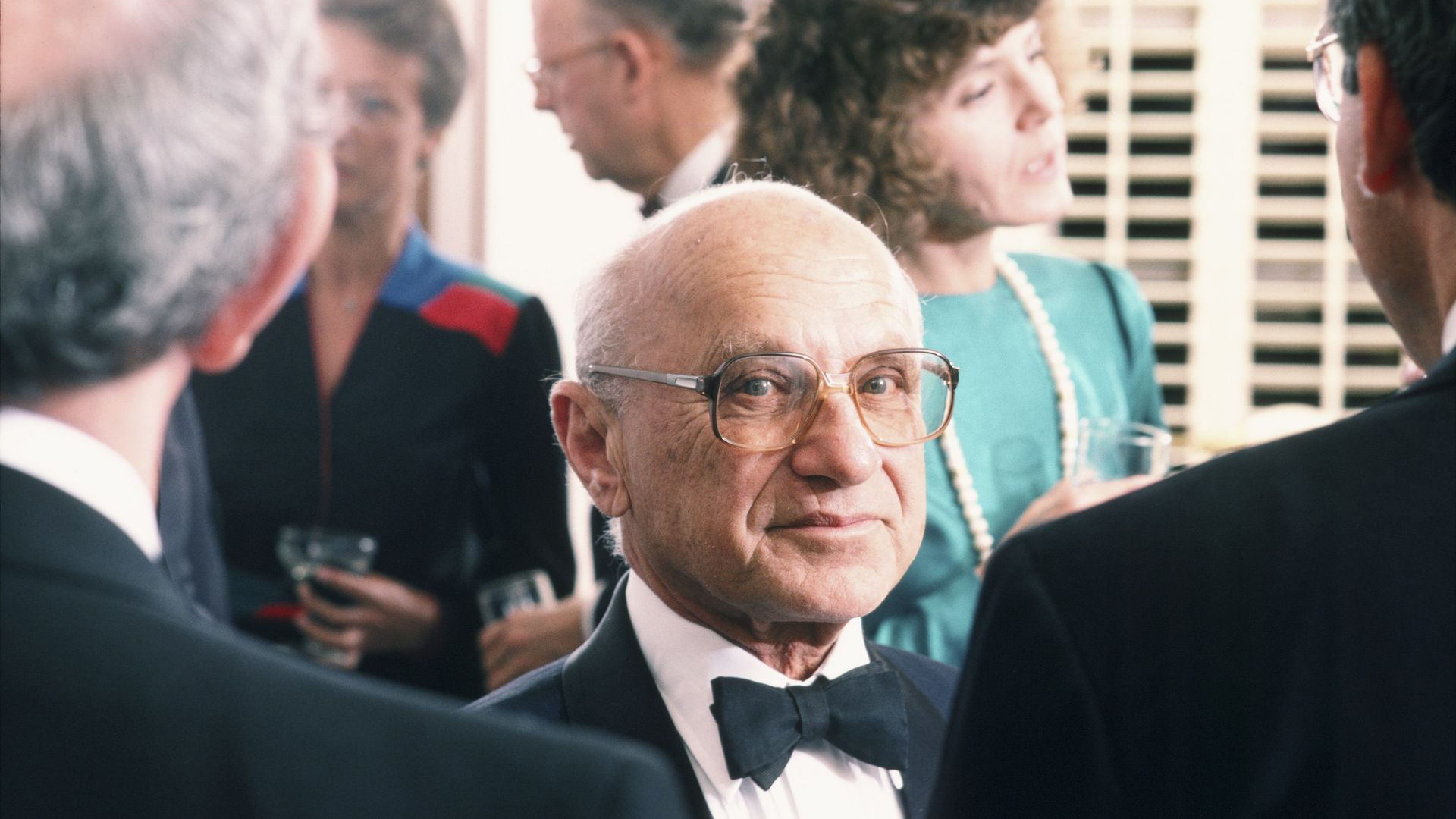 Milton Friedman in black tie