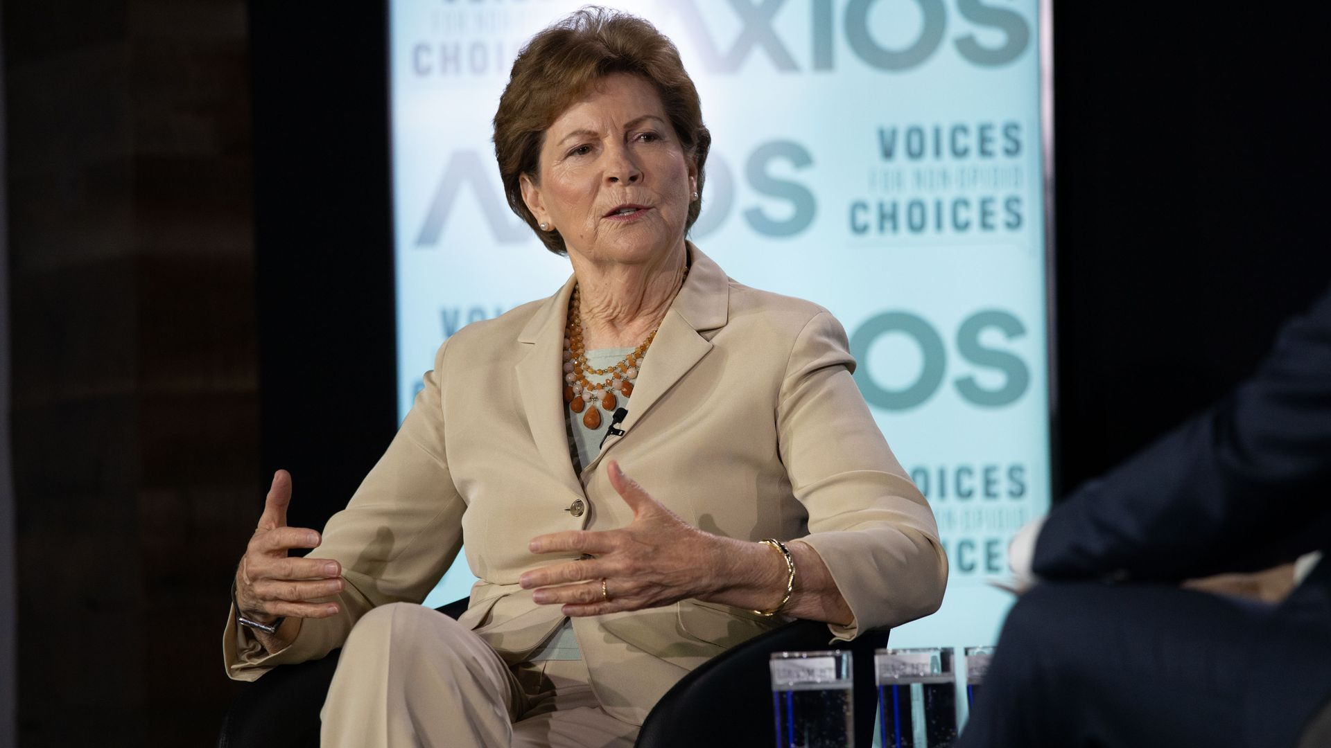 Senator Jeanne Shaheen of New Hampshire on the Axios stage.