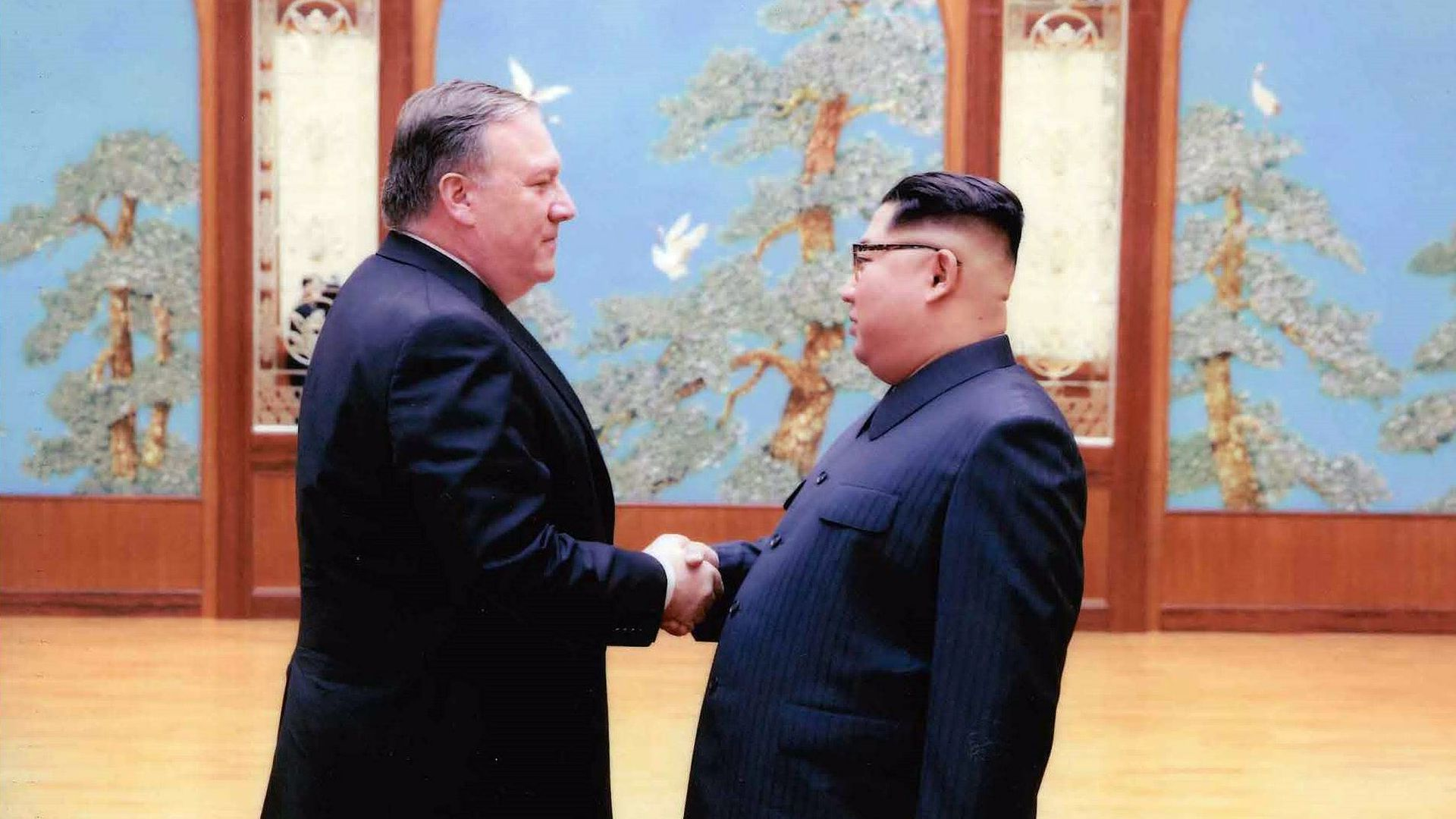 Pompeo and Kim Jong-un
