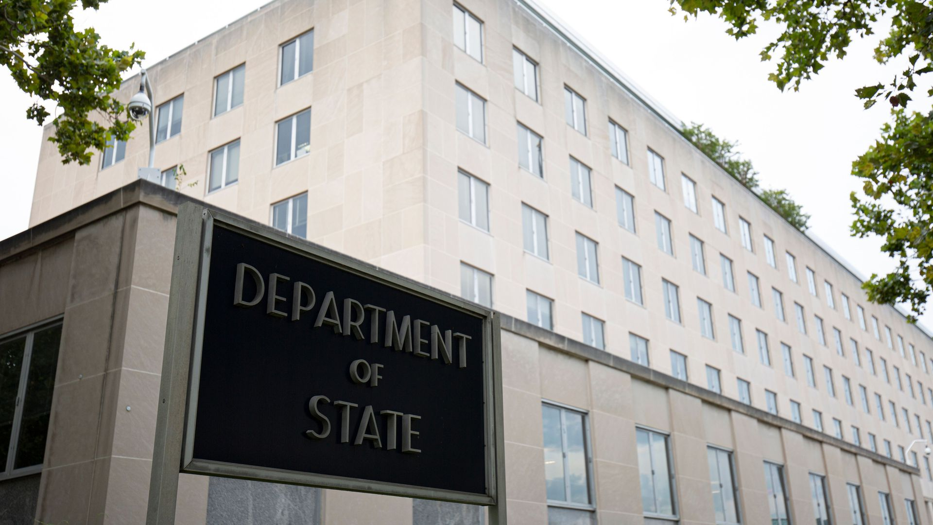 The state department building.